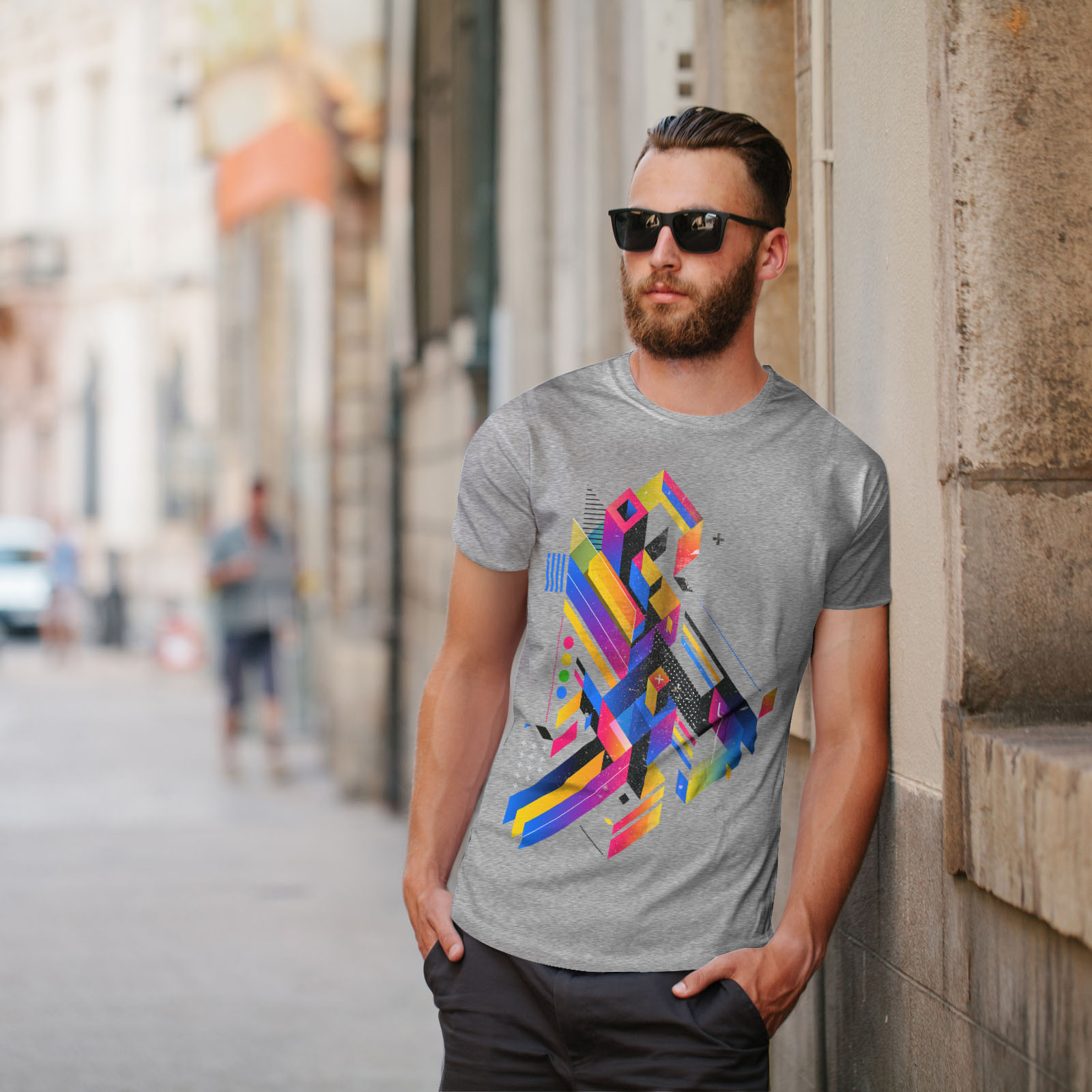 Wellcoda-Abstract-Maze-T-shirt-homme-Labyrinthe-conception-graphique-imprime-Tee miniature 17