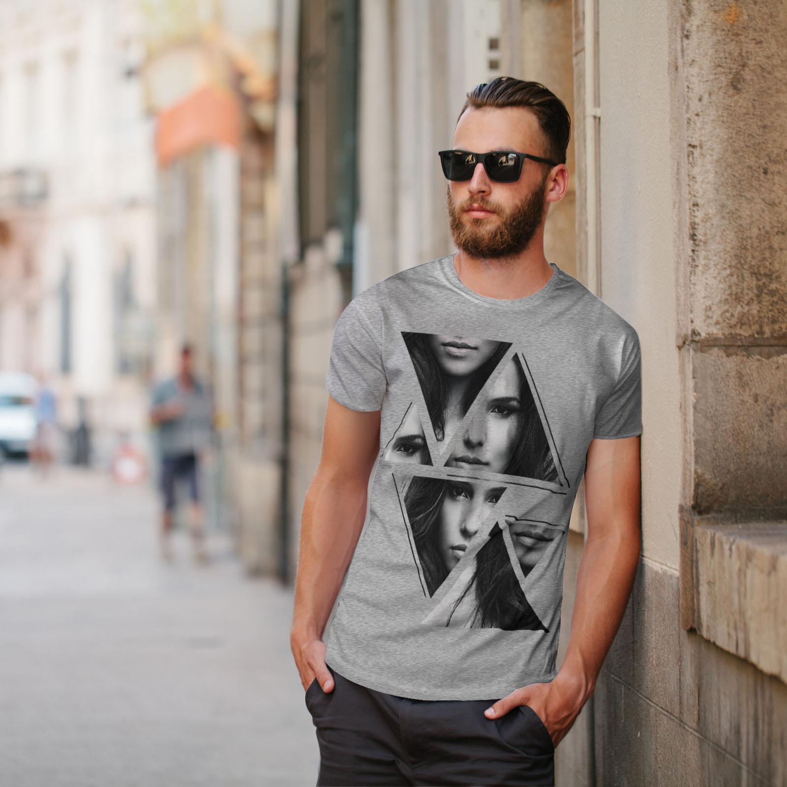 Wellcoda-Art-Fashion-Face-T-shirt-homme-Abstract-Design-graphique-imprime-Tee miniature 17