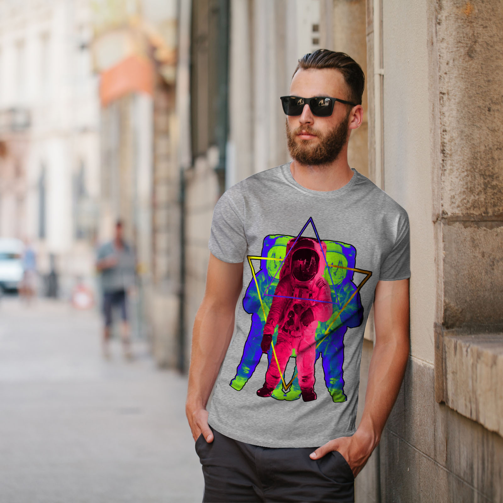 Wellcoda-Psychedelic-Astronaut-Mens-T-shirt-Star-Graphic-Design-Printed-Tee thumbnail 17