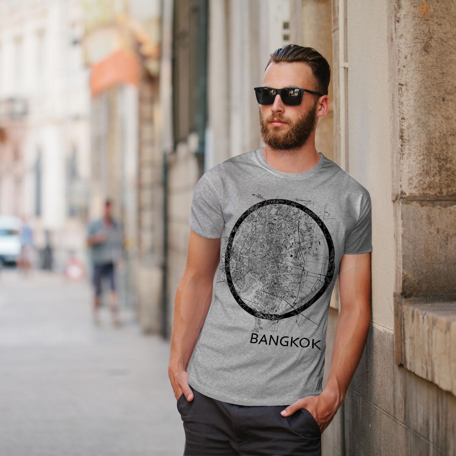 Wellcoda-Thailand-Bangkok-Map-Mens-T-shirt-Big-Graphic-Design-Printed-Tee thumbnail 17