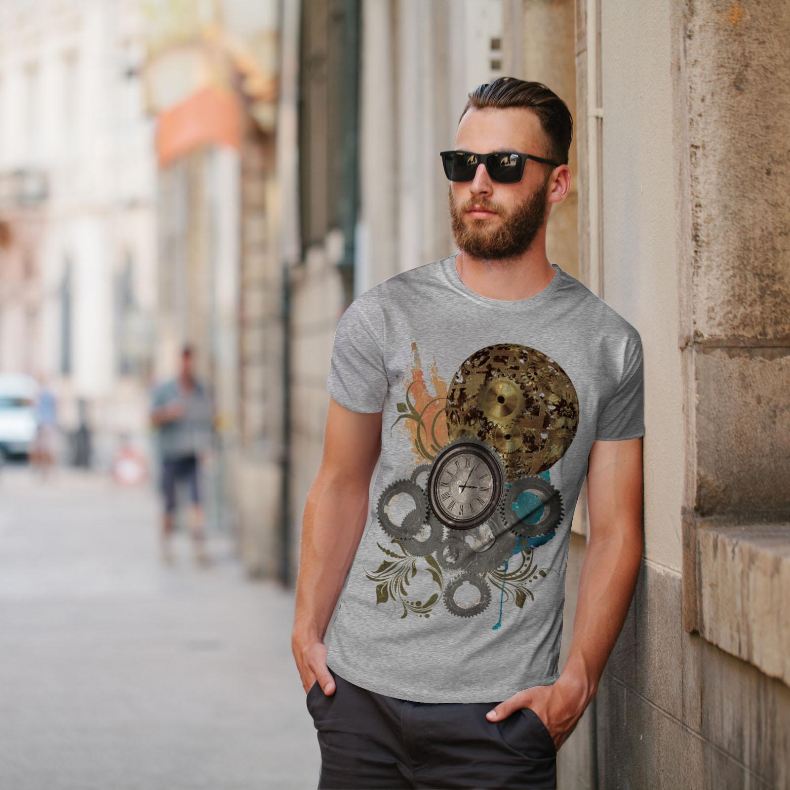 Wellcoda-Clock-Cool-Print-Mens-T-shirt-Illusion-Graphic-Design-Printed-Tee thumbnail 17