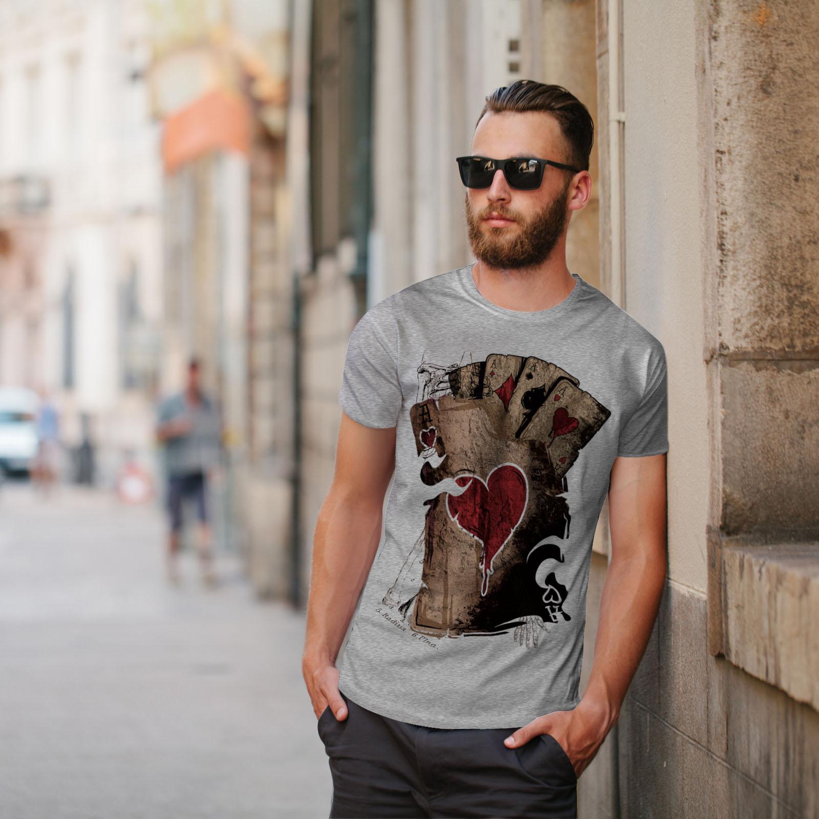Wellcoda-Poker-Gamble-Squelette-T-shirt-homme-effrayant-conception-graphique-imprime-Tee miniature 17