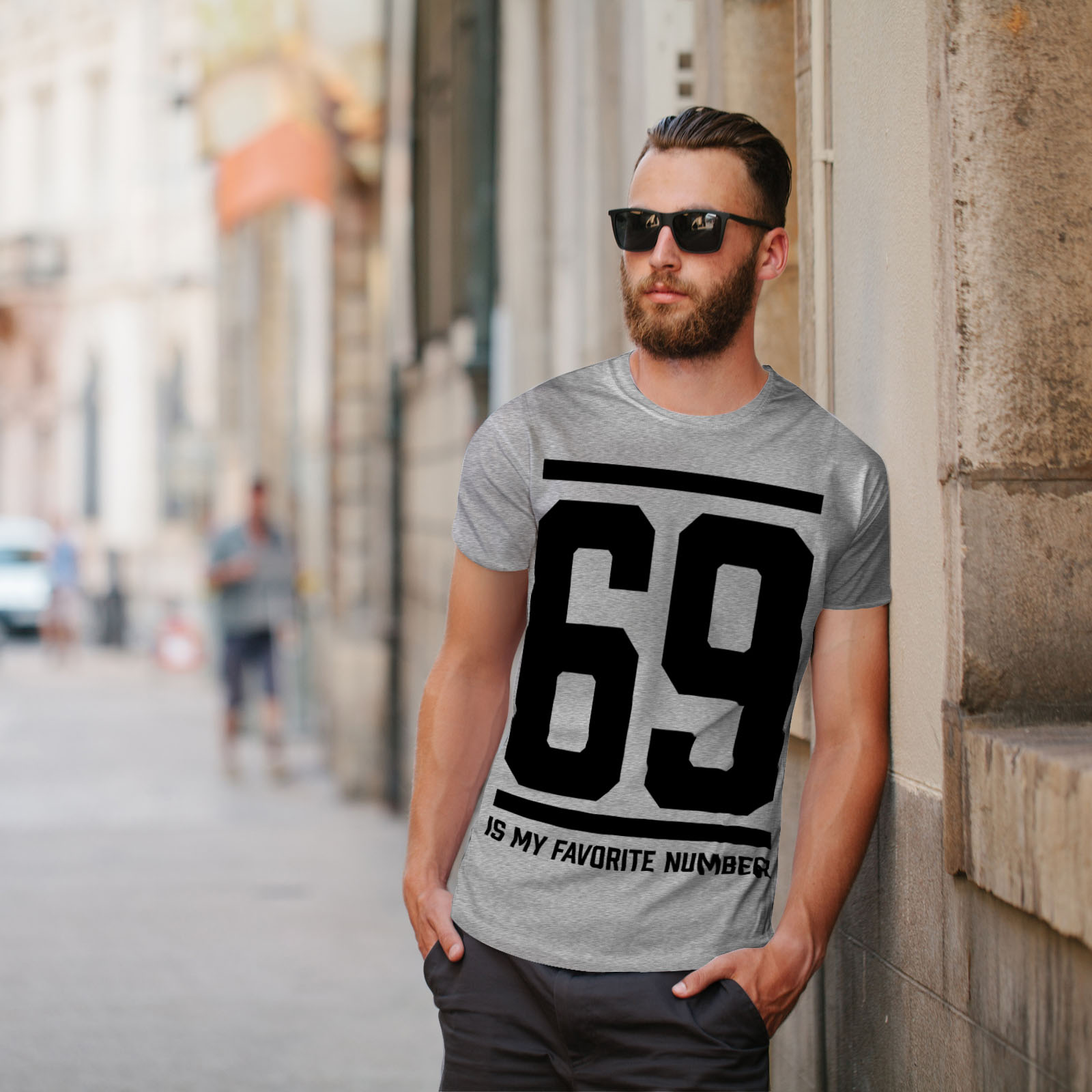 Wellcoda-69-Favorite-Number-Mens-T-shirt-Sports-Graphic-Design-Printed-Tee thumbnail 17