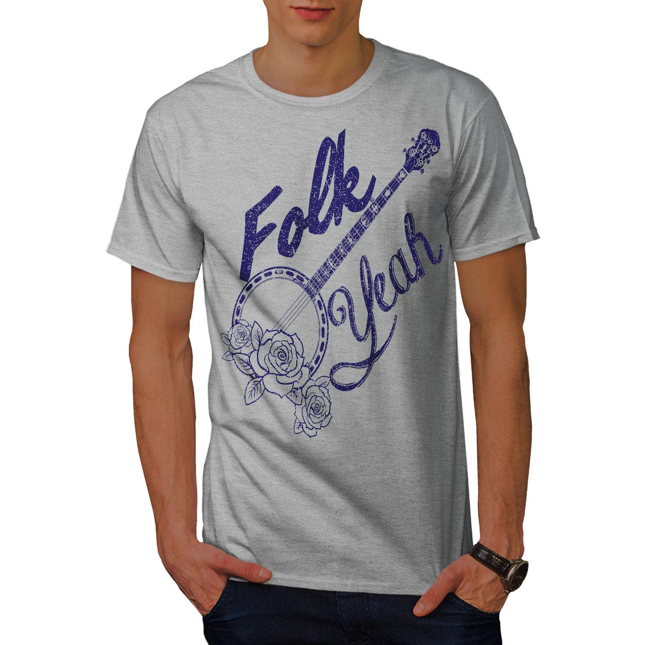 il sarcasmo design grafico stampato T-shirt Si /'folk wellcoda Da Uomo T-shirt