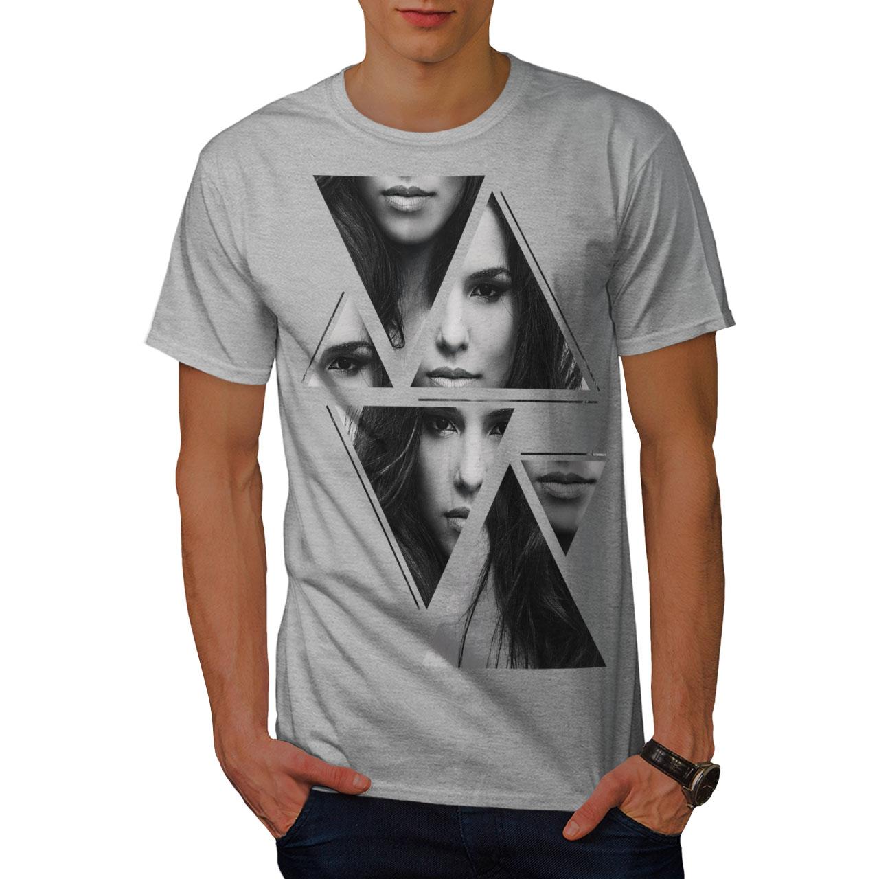 Wellcoda-Art-Fashion-Face-T-shirt-homme-Abstract-Design-graphique-imprime-Tee miniature 15