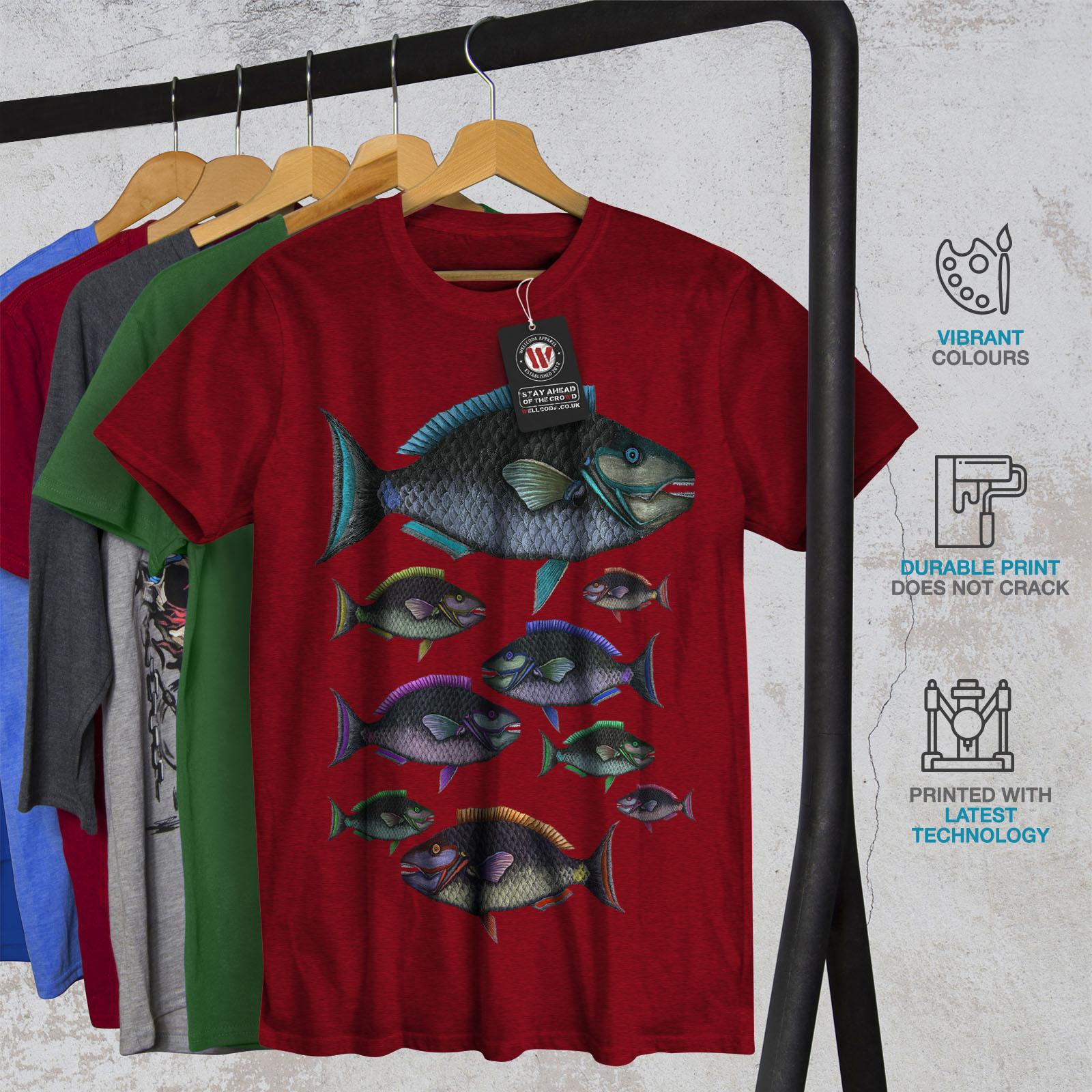 Wellcoda Color Fish Nature Mens T-shirt, Water Graphic Design ...
