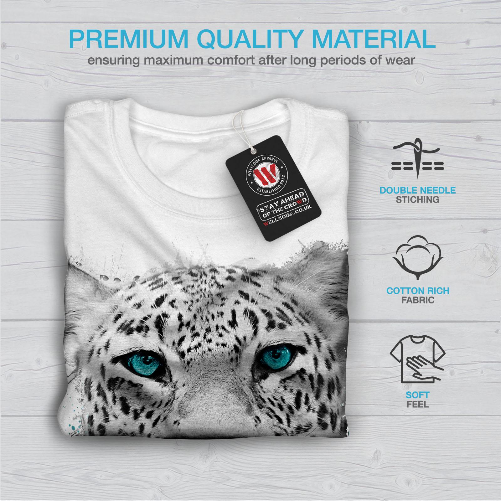 Wellcoda Tiger Animal Wild Cat Mens T-shirt Noble Graphic Design Printed Tee