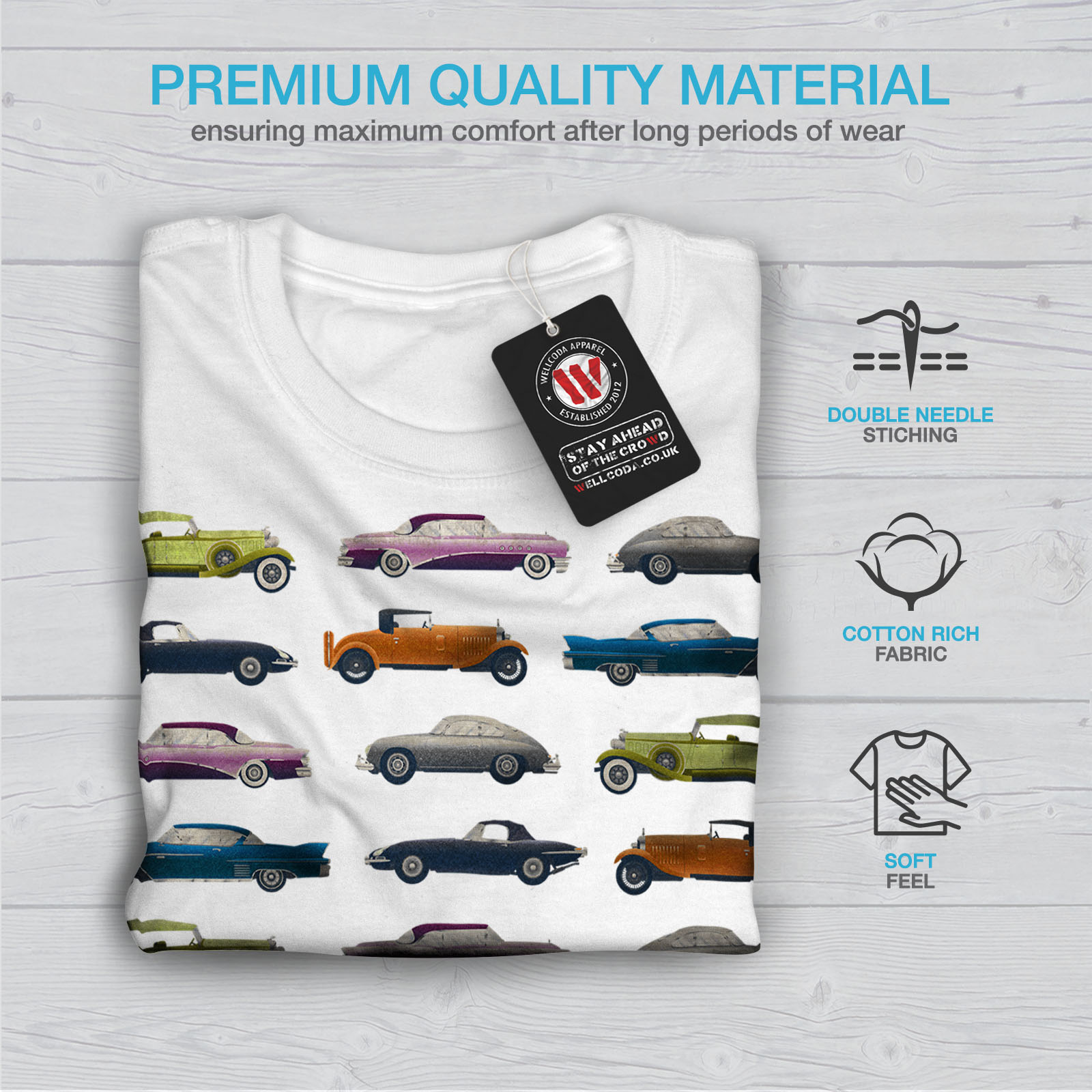 Wellcoda-Classic-Old-Pattern-Car-Mens-T-shirt-Retro-Graphic-Design-Printed-Tee thumbnail 13