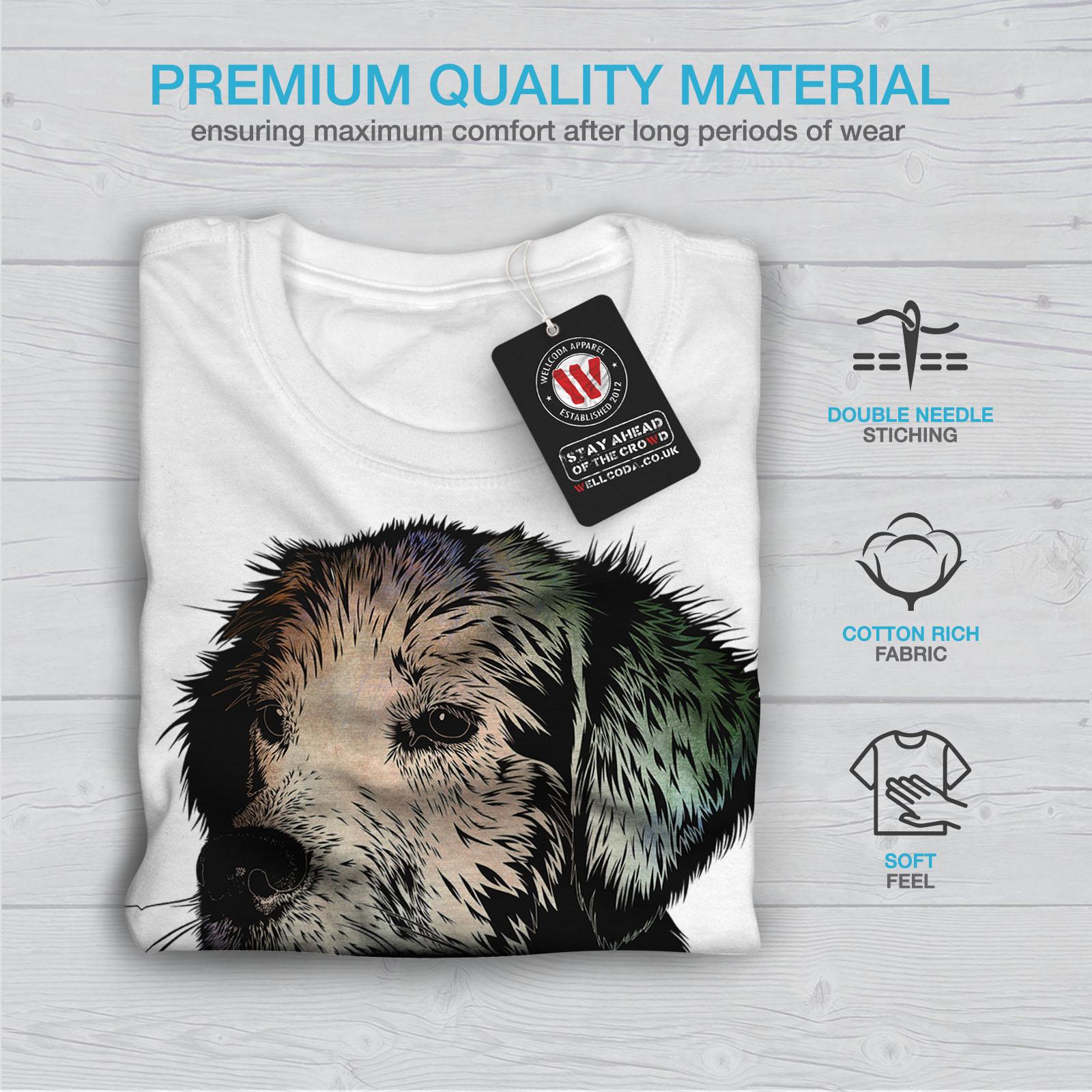 Felice design grafico stampato T-shirt Wellcoda 42 anni CANINI Erba Da Uomo T-shirt