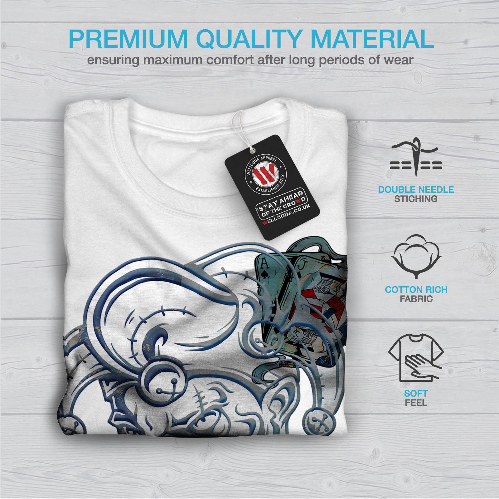 malvagio design grafico stampato T-shirt Wellcoda RIDERE POKER CARD Gamble Uomo T-shirt