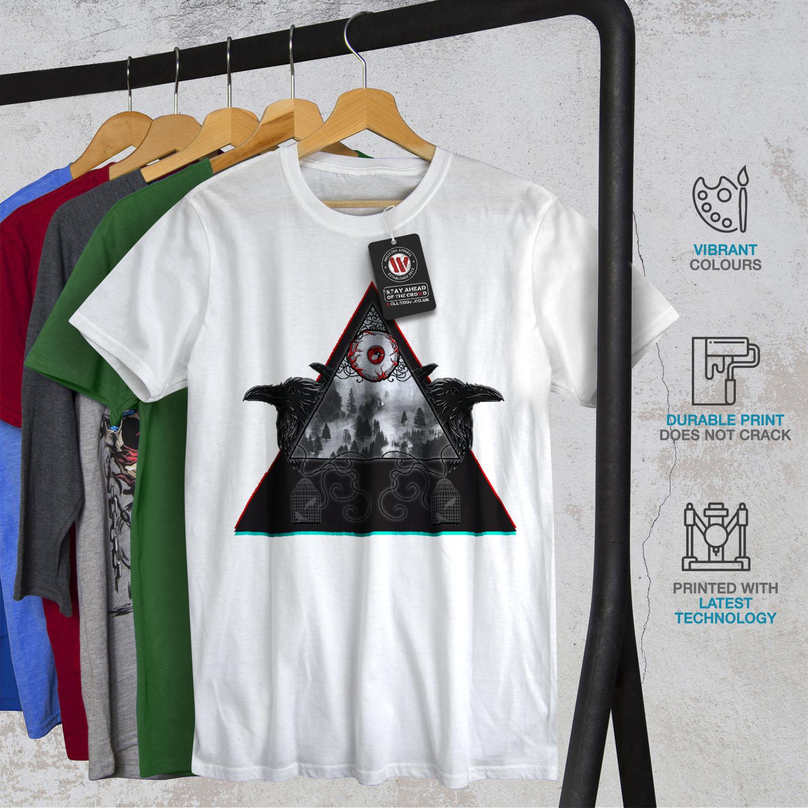 design grafico stampato T-shirt Wellcoda gli illuminati Alla Moda Da Uomo T-shirt nero