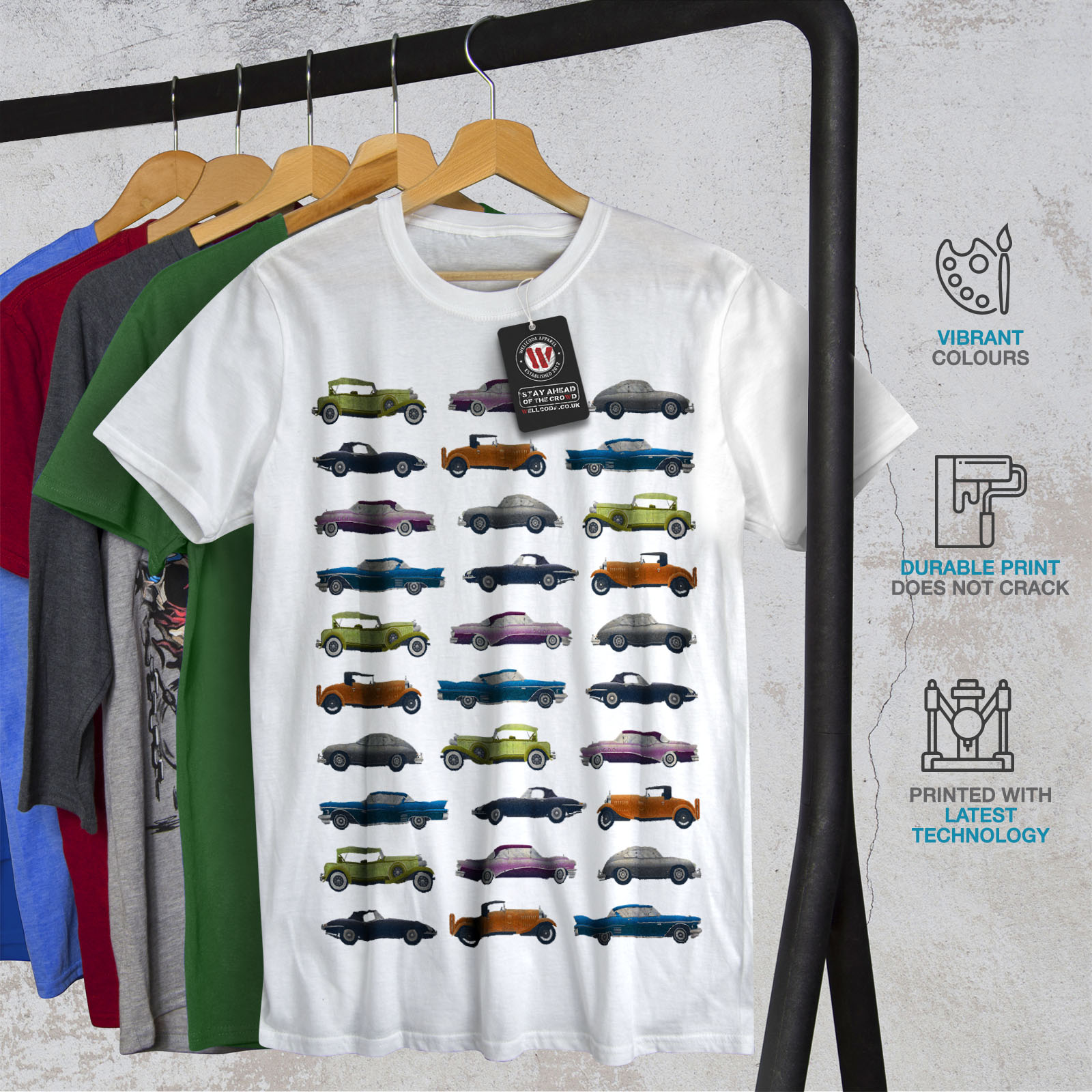 Wellcoda-Classic-Old-Pattern-Car-Mens-T-shirt-Retro-Graphic-Design-Printed-Tee thumbnail 12