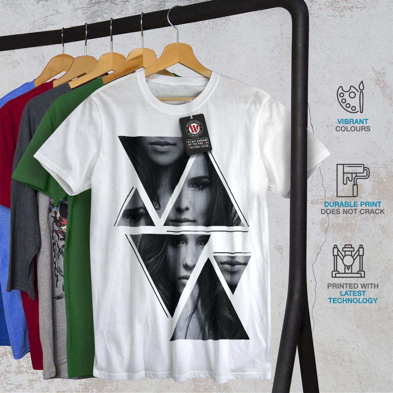 Wellcoda-Art-Fashion-Face-T-shirt-homme-Abstract-Design-graphique-imprime-Tee miniature 12