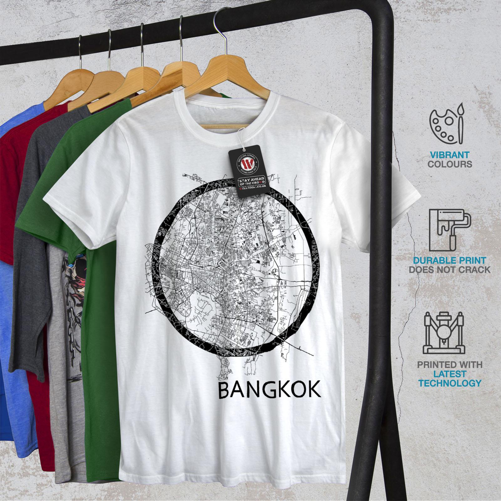 Wellcoda-Thailand-Bangkok-Map-Mens-T-shirt-Big-Graphic-Design-Printed-Tee thumbnail 12