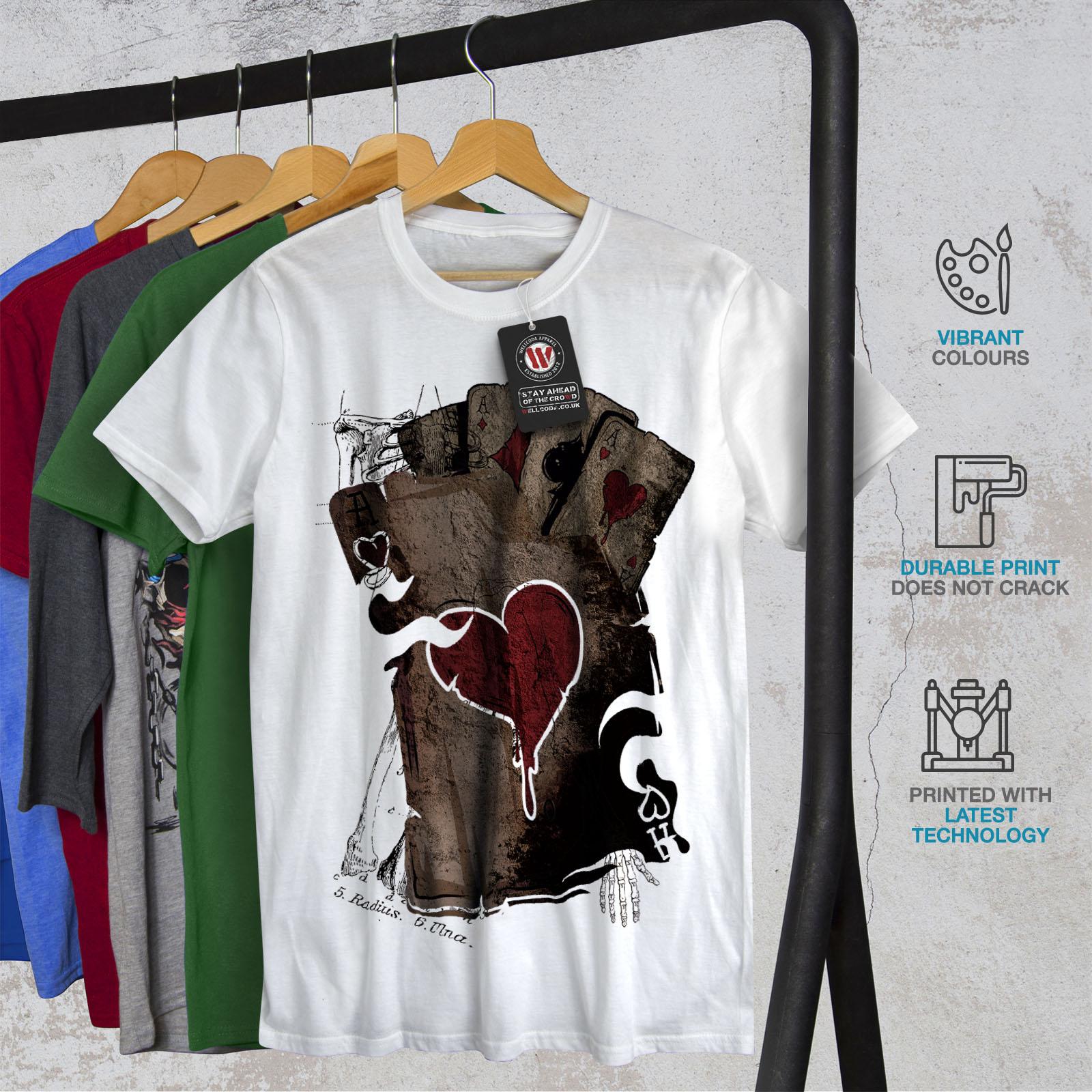 Wellcoda-Poker-Gamble-Squelette-T-shirt-homme-effrayant-conception-graphique-imprime-Tee miniature 12