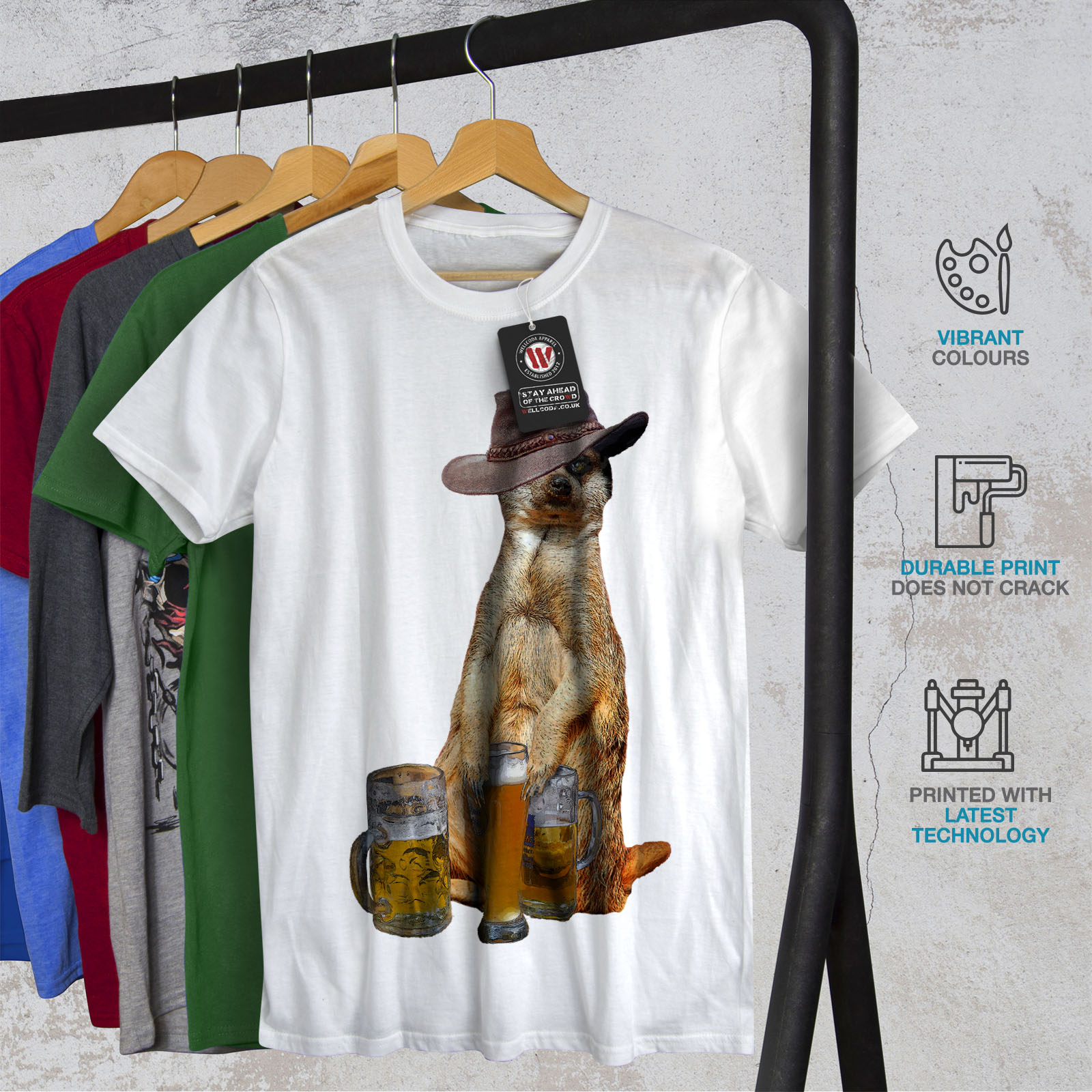 Wellcoda-Drunk-Animal-Beer-Mens-T-shirt-Funny-Graphic-Design-Printed-Tee thumbnail 12