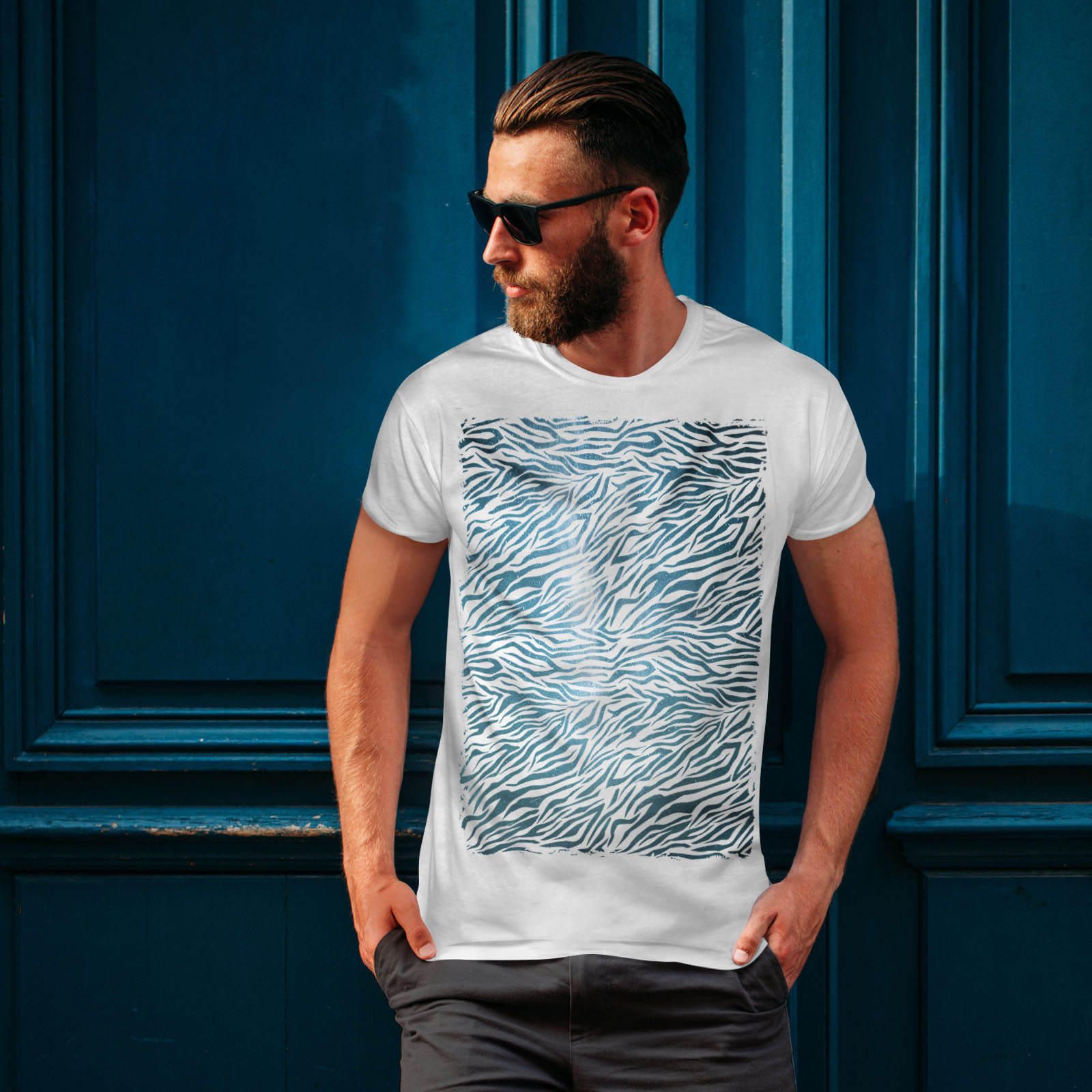 Wellcoda-Fashion-Pattern-Mens-T-shirt-Animal-Graphic-Design-Printed-Tee miniatuur 10