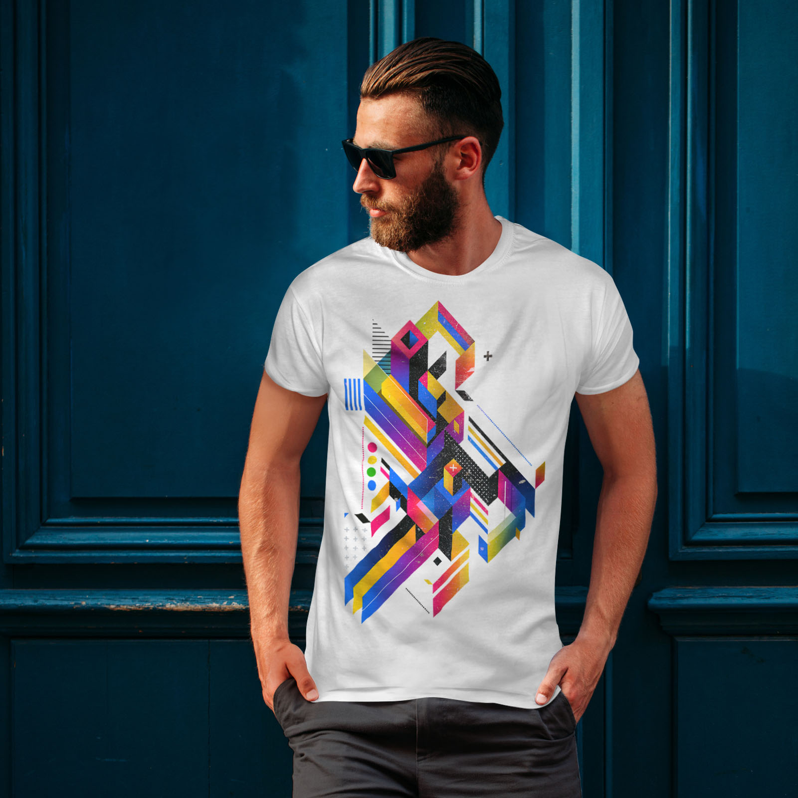 Wellcoda-Abstract-Maze-T-shirt-homme-Labyrinthe-conception-graphique-imprime-Tee miniature 10