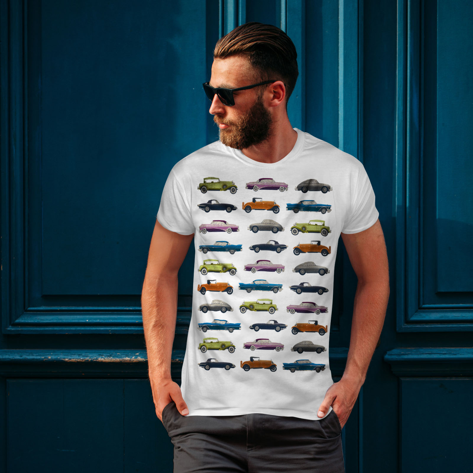 Wellcoda-Classic-Old-Pattern-Car-Mens-T-shirt-Retro-Graphic-Design-Printed-Tee thumbnail 10