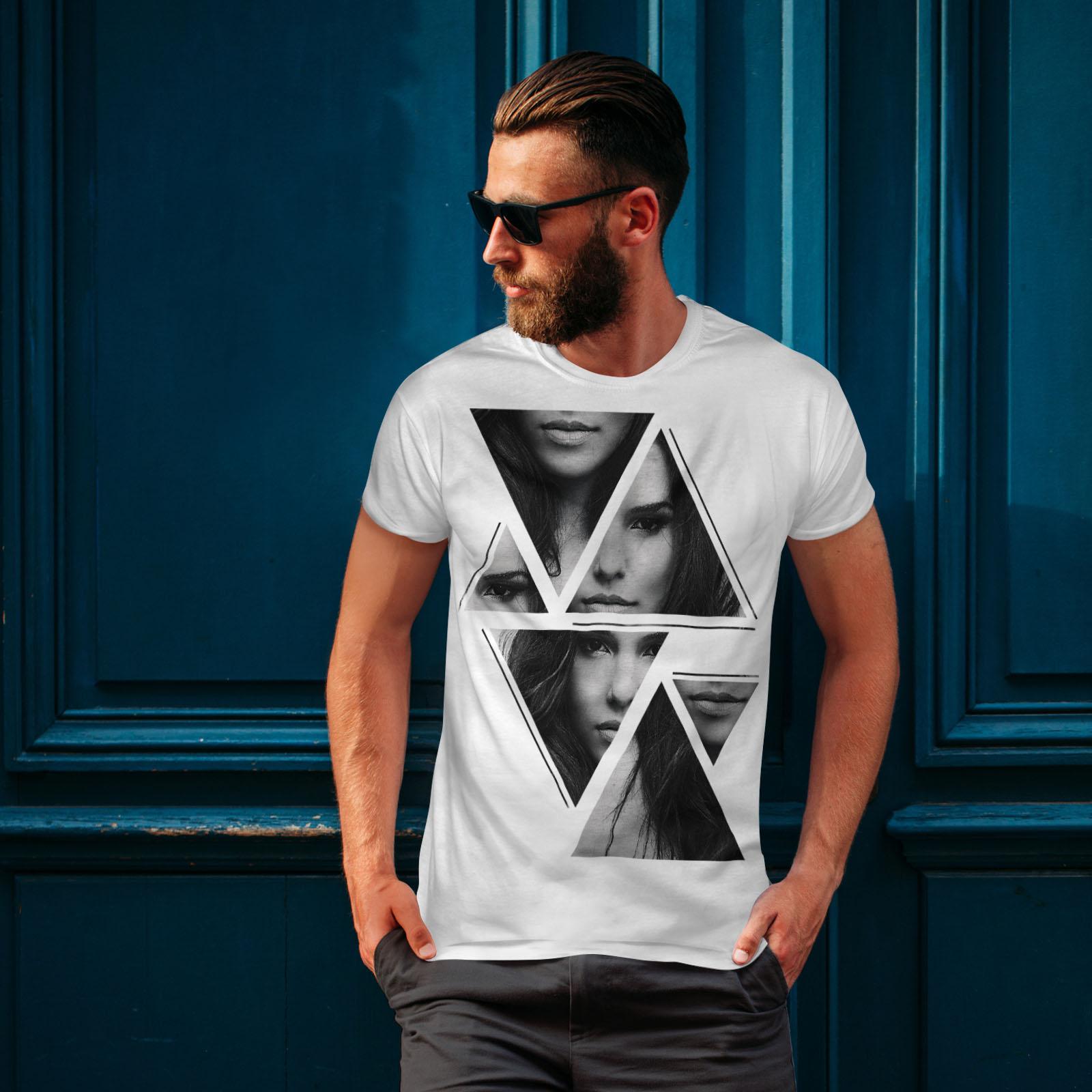 Wellcoda-Art-Fashion-Face-T-shirt-homme-Abstract-Design-graphique-imprime-Tee miniature 10