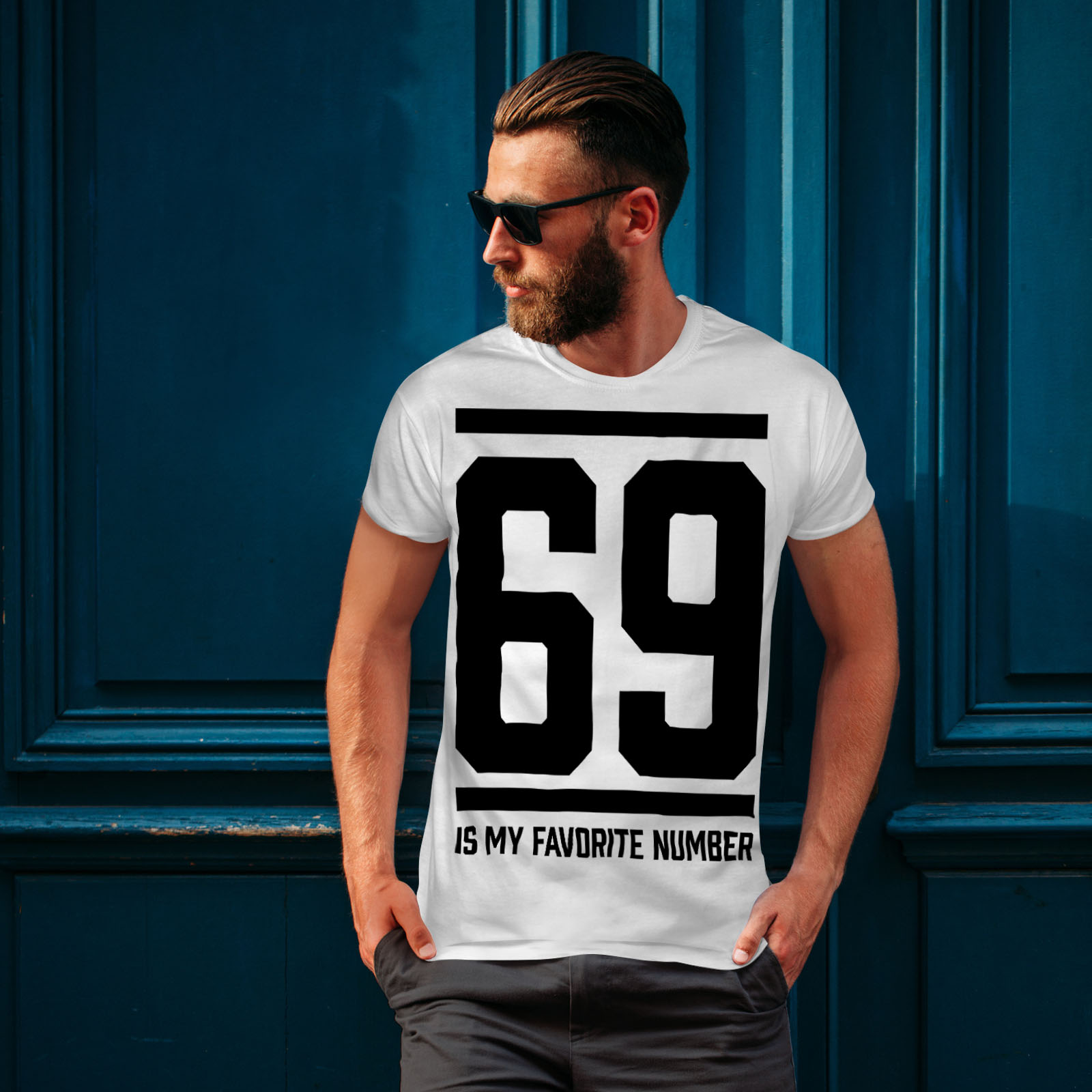 Wellcoda-69-Favorite-Number-Mens-T-shirt-Sports-Graphic-Design-Printed-Tee thumbnail 10