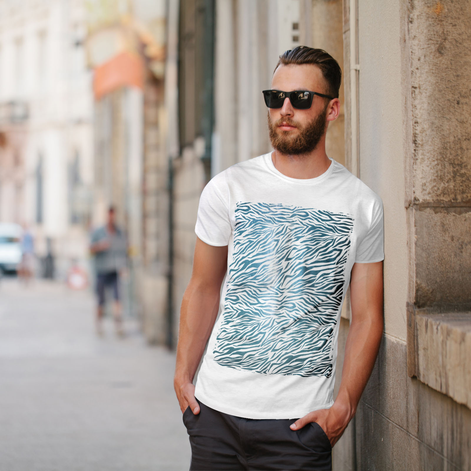 Wellcoda-Fashion-Pattern-Mens-T-shirt-Animal-Graphic-Design-Printed-Tee miniatuur 11