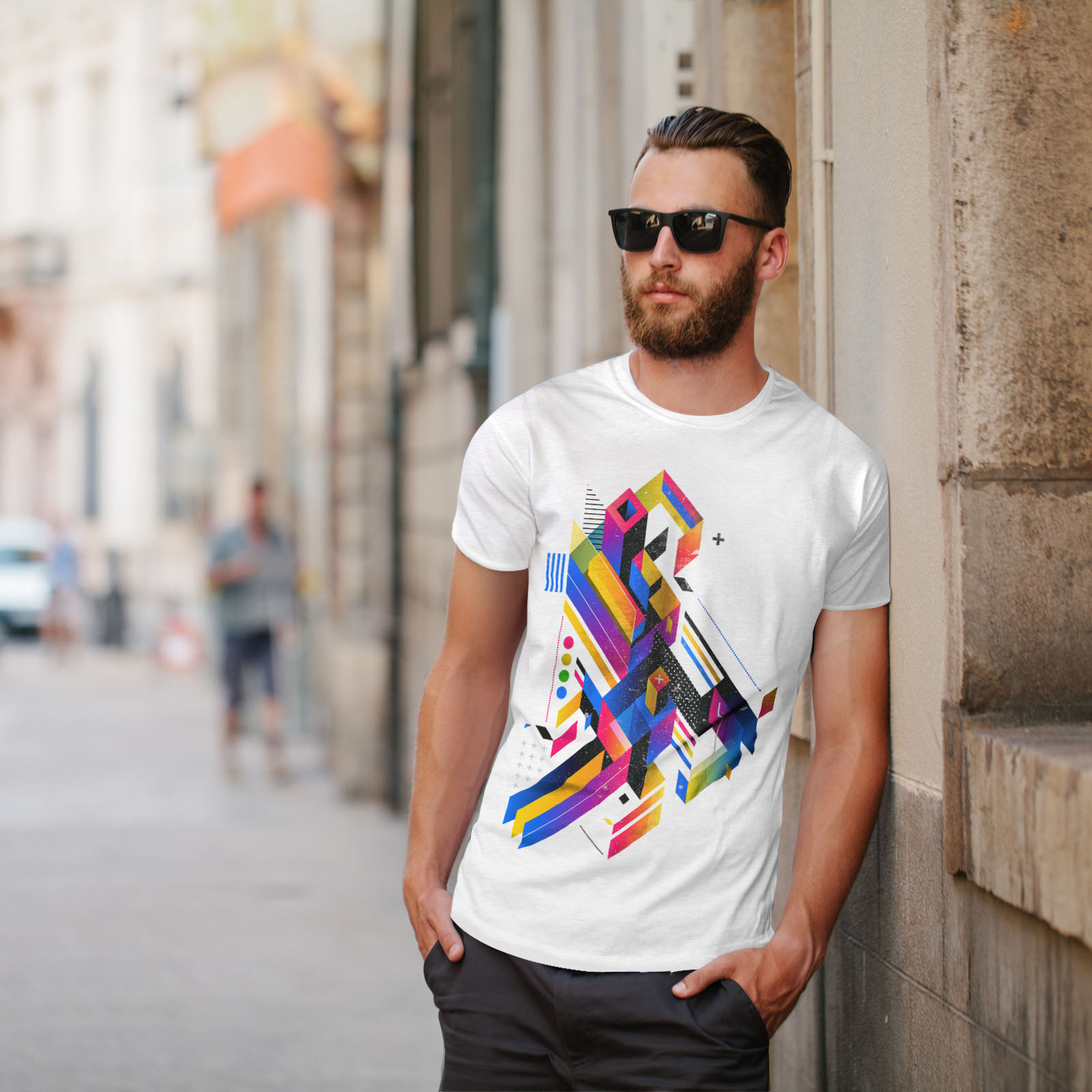 Wellcoda-Abstract-Maze-T-shirt-homme-Labyrinthe-conception-graphique-imprime-Tee miniature 11