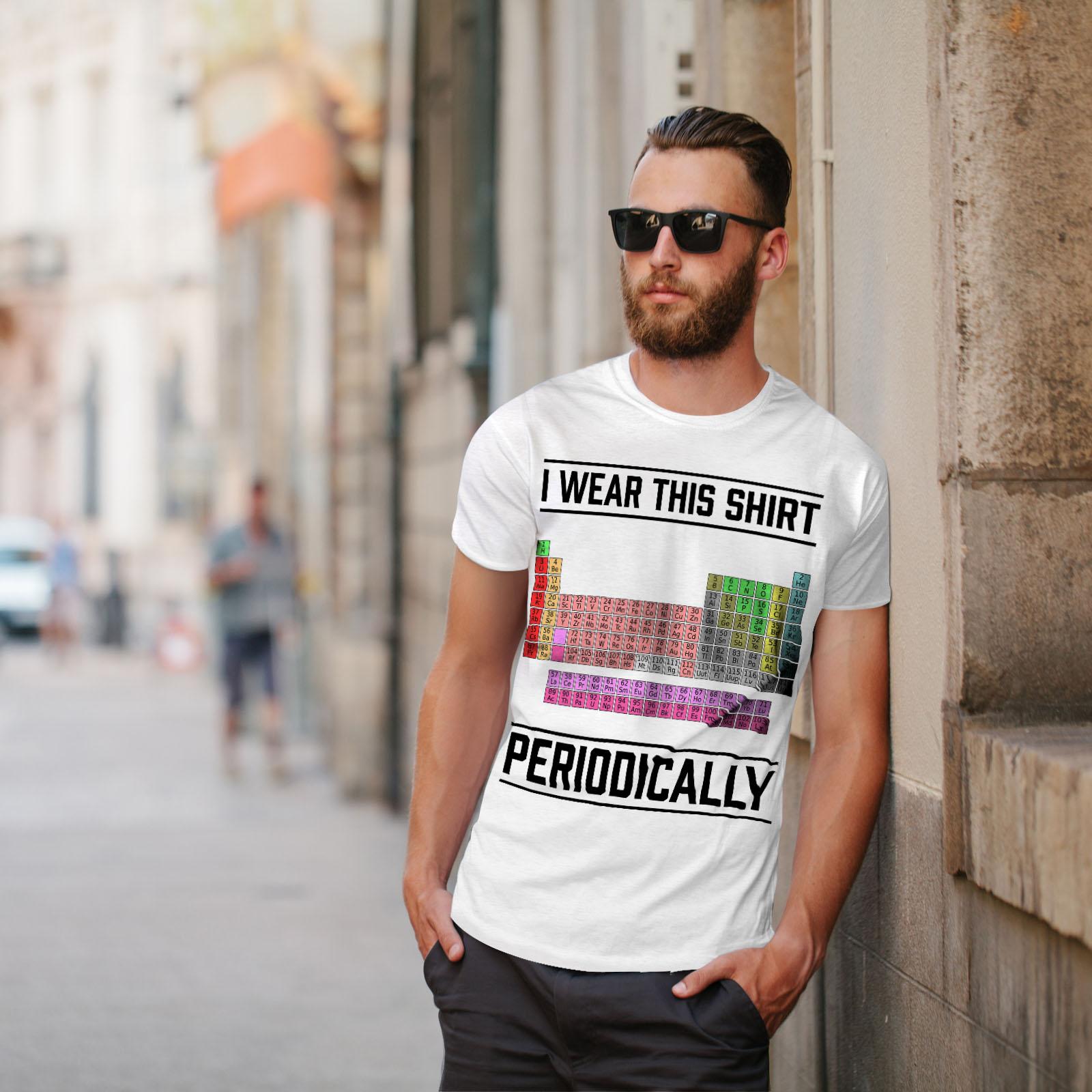 Wellcoda indosso questa Linea Uomo T-shirt periodicamente design grafico stampato T-shirt