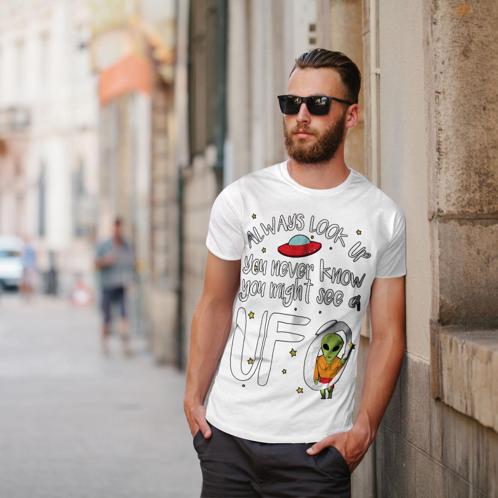 sempre design grafico stampato T-shirt Wellcoda cercare SPAZIO Mars Da Uomo T-shirt