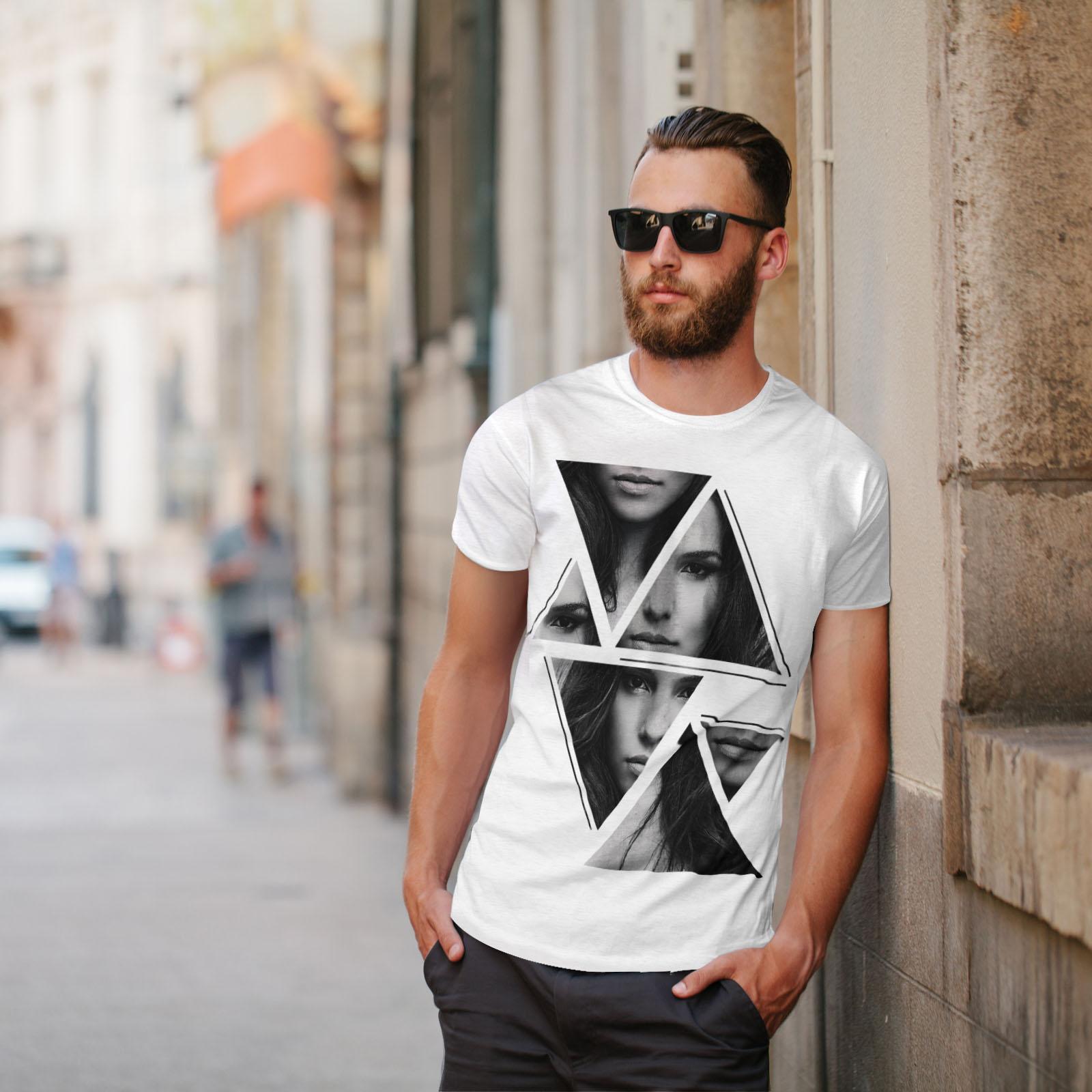 Wellcoda-Art-Fashion-Face-T-shirt-homme-Abstract-Design-graphique-imprime-Tee miniature 11