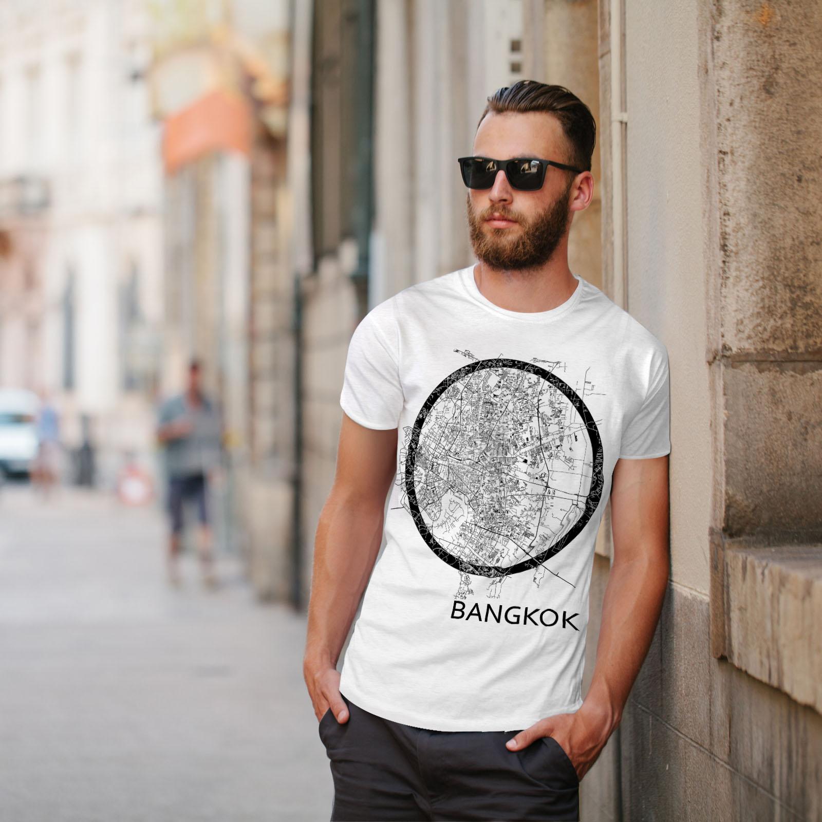 Wellcoda-Thailand-Bangkok-Map-Mens-T-shirt-Big-Graphic-Design-Printed-Tee thumbnail 11