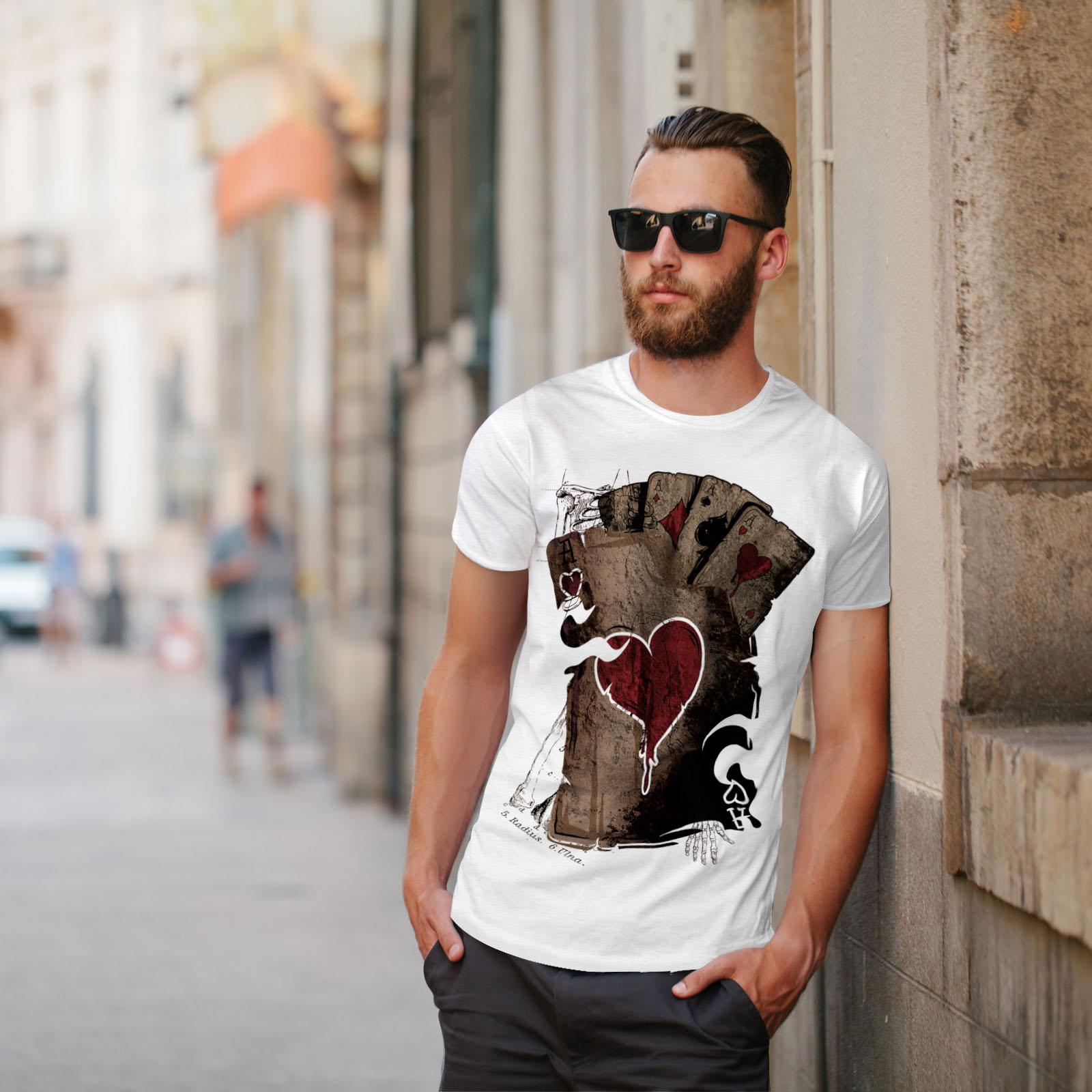 Wellcoda-Poker-Gamble-Squelette-T-shirt-homme-effrayant-conception-graphique-imprime-Tee miniature 11