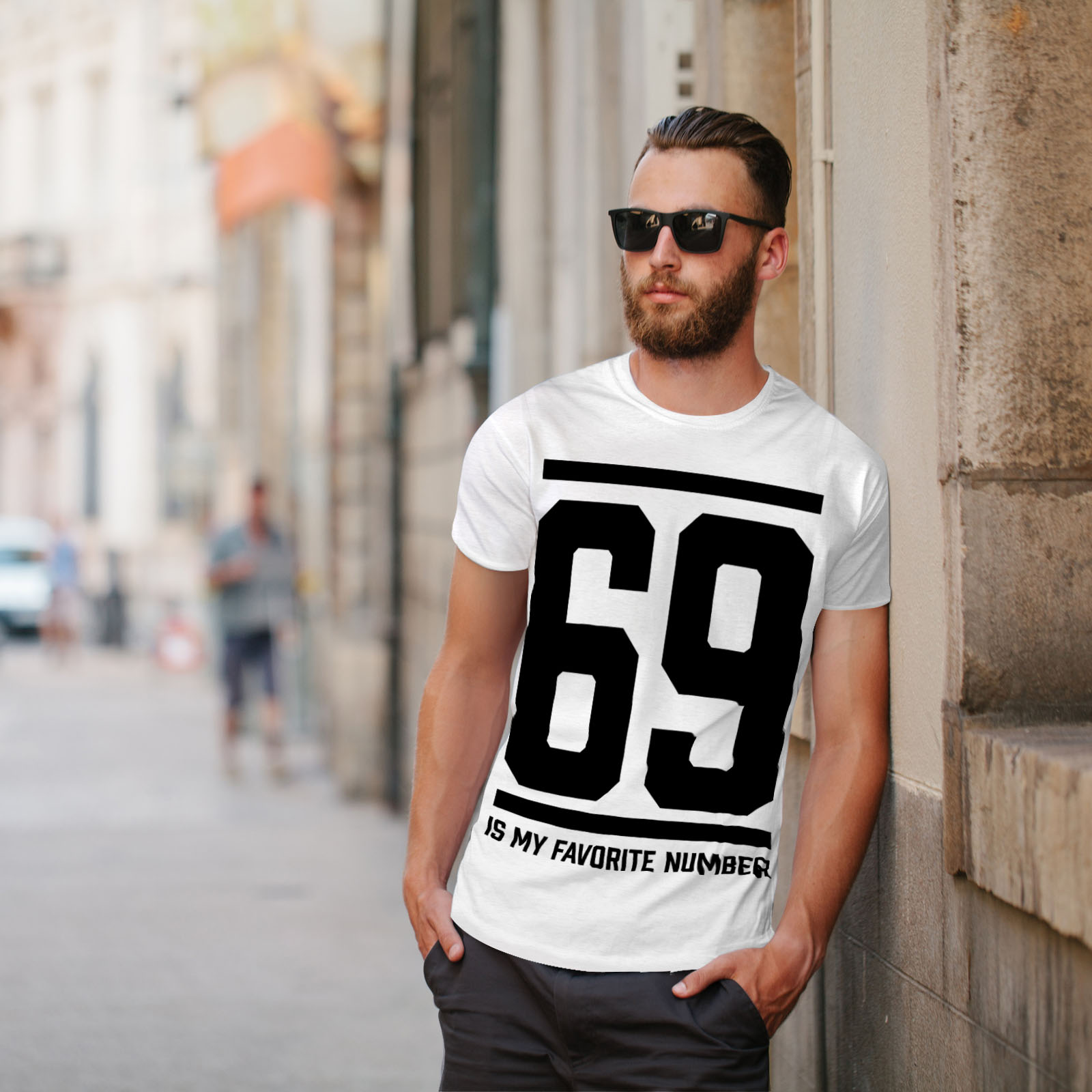 Wellcoda-69-Favorite-Number-Mens-T-shirt-Sports-Graphic-Design-Printed-Tee thumbnail 11