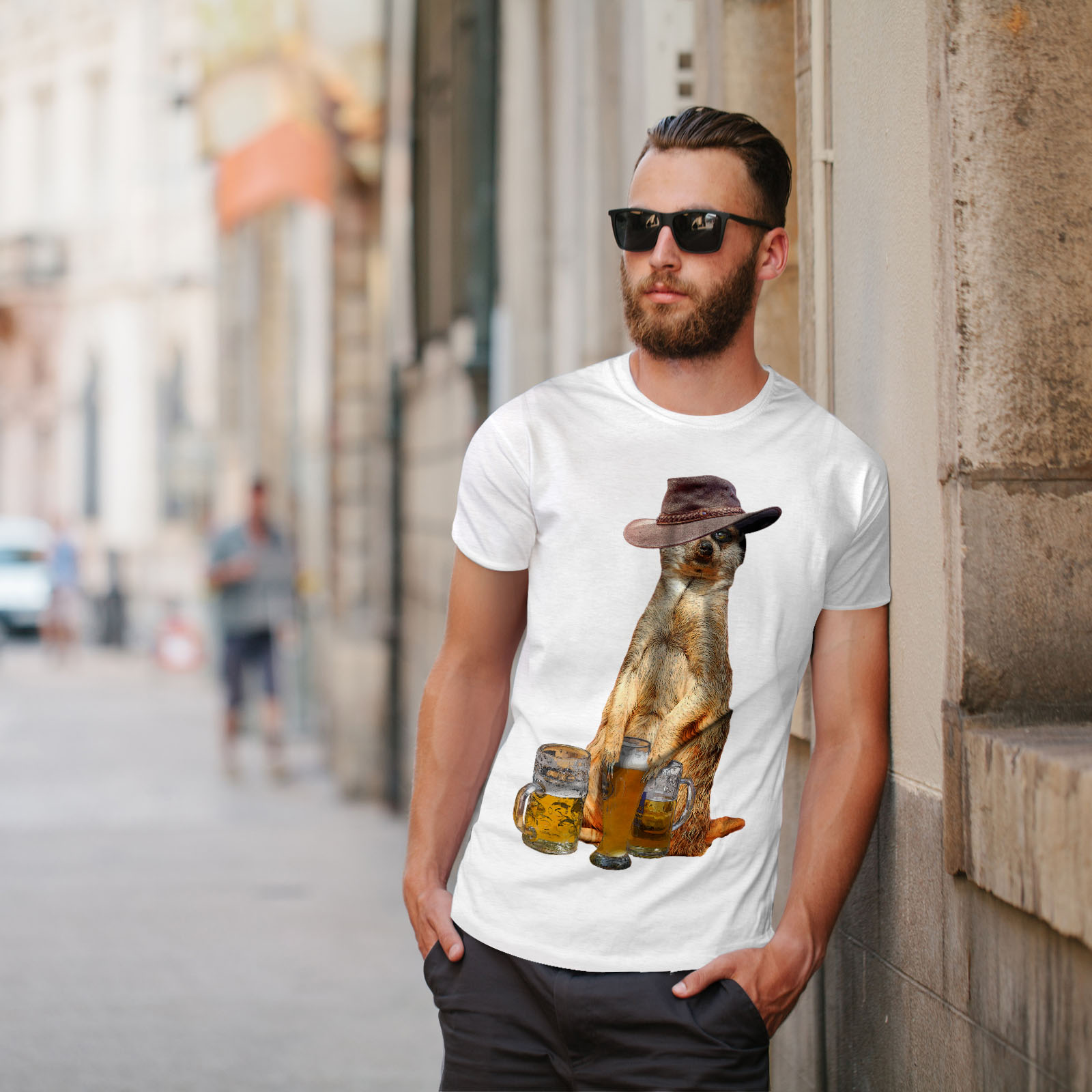 Wellcoda-Drunk-Animal-Beer-Mens-T-shirt-Funny-Graphic-Design-Printed-Tee thumbnail 11