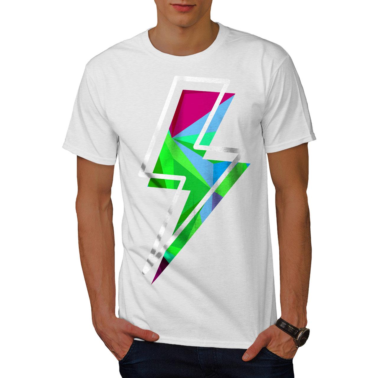 Wellcoda Flash Stylish Art Mens T-shirt, Powerful Graphic De