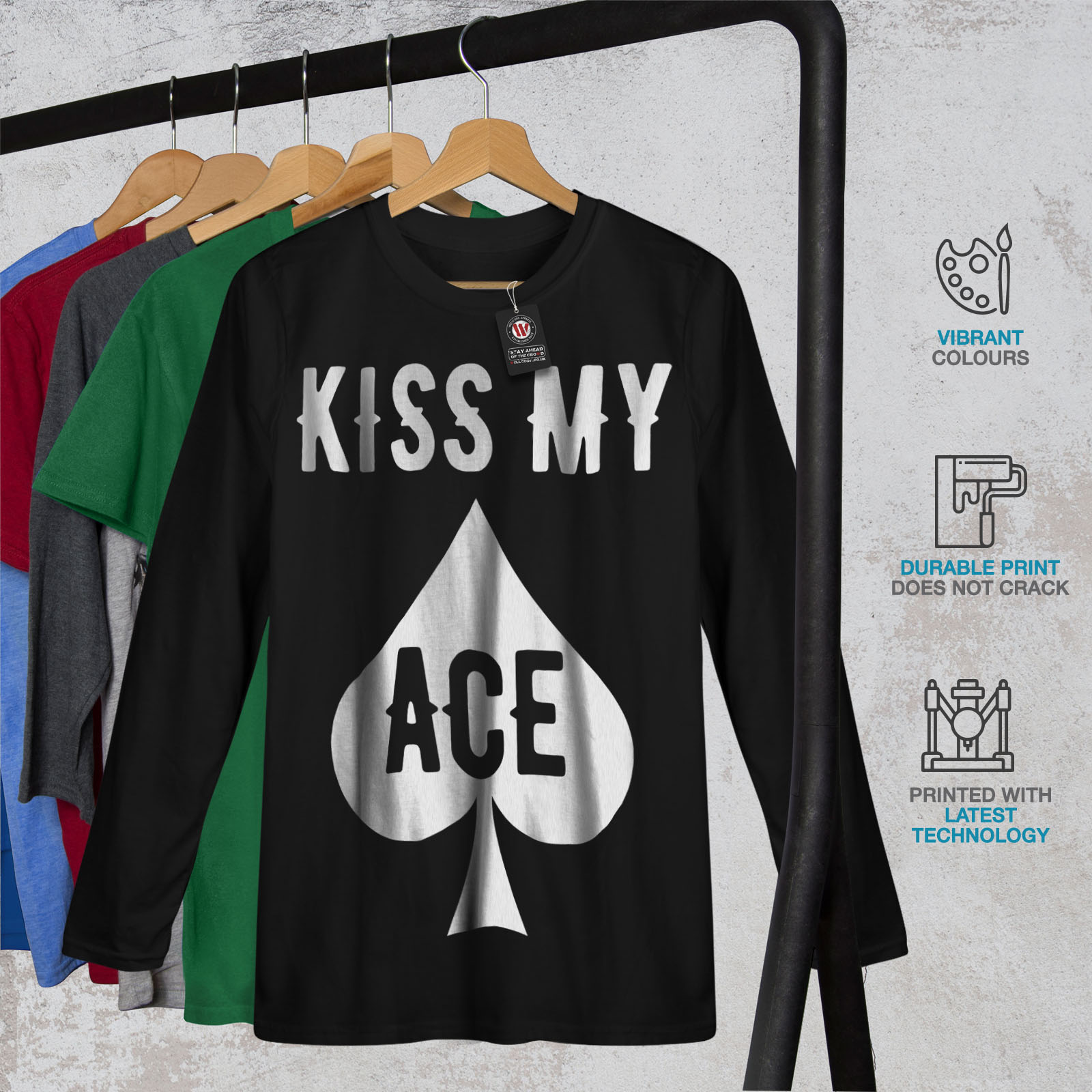Poker Casino Skeleton Ace Men Sweatshirt NEWWellcoda