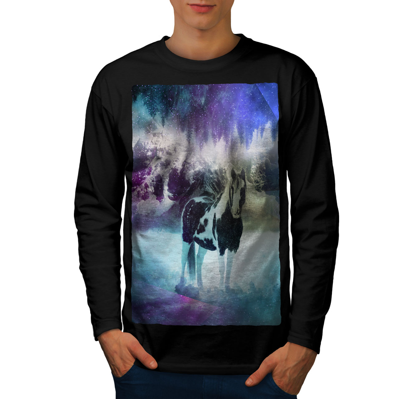 Astronomy Space Graphic Design Wellcoda Constelations Mens Long Sleeve T-shirt