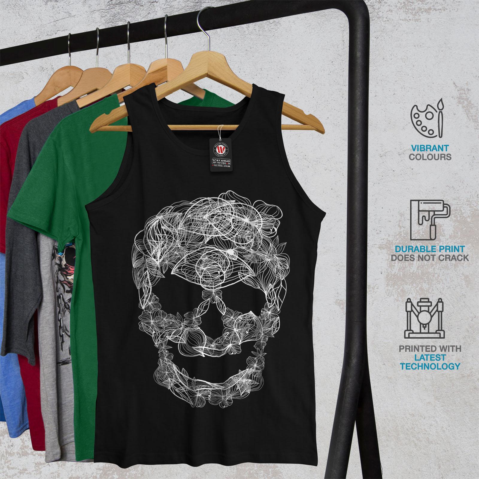 Zombie Active Sports Shirt Wellcoda Skull Acid Art Mens Tank Top