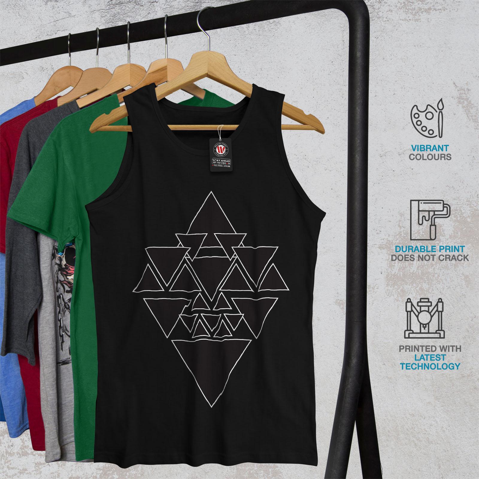 Wellcoda occulto Triangolo Da Uomo Canotta DARK Camicia di Sport Attivo