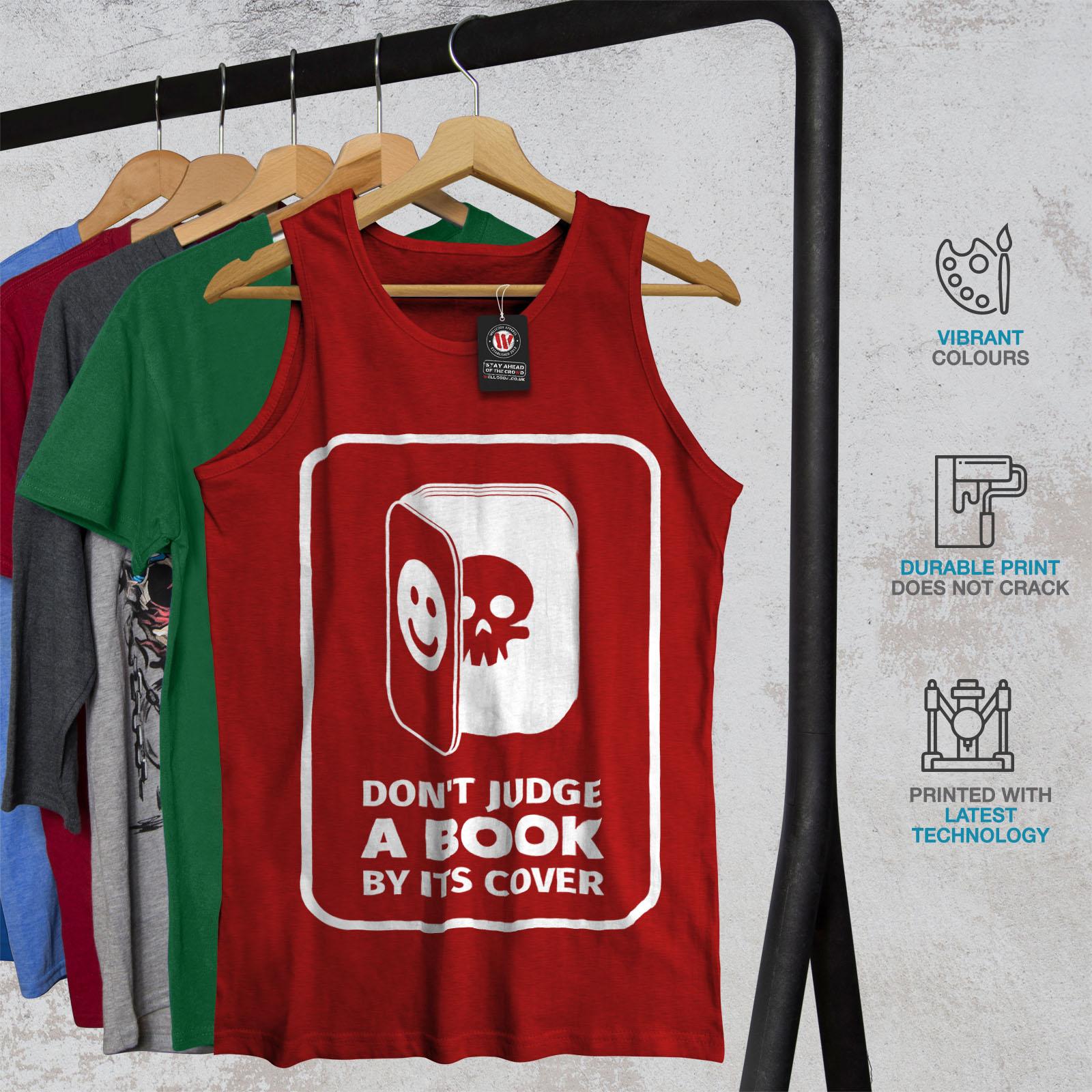 Wellcoda Judge Book Skeleton Mens Tank Top Evil Active Sports Shirt