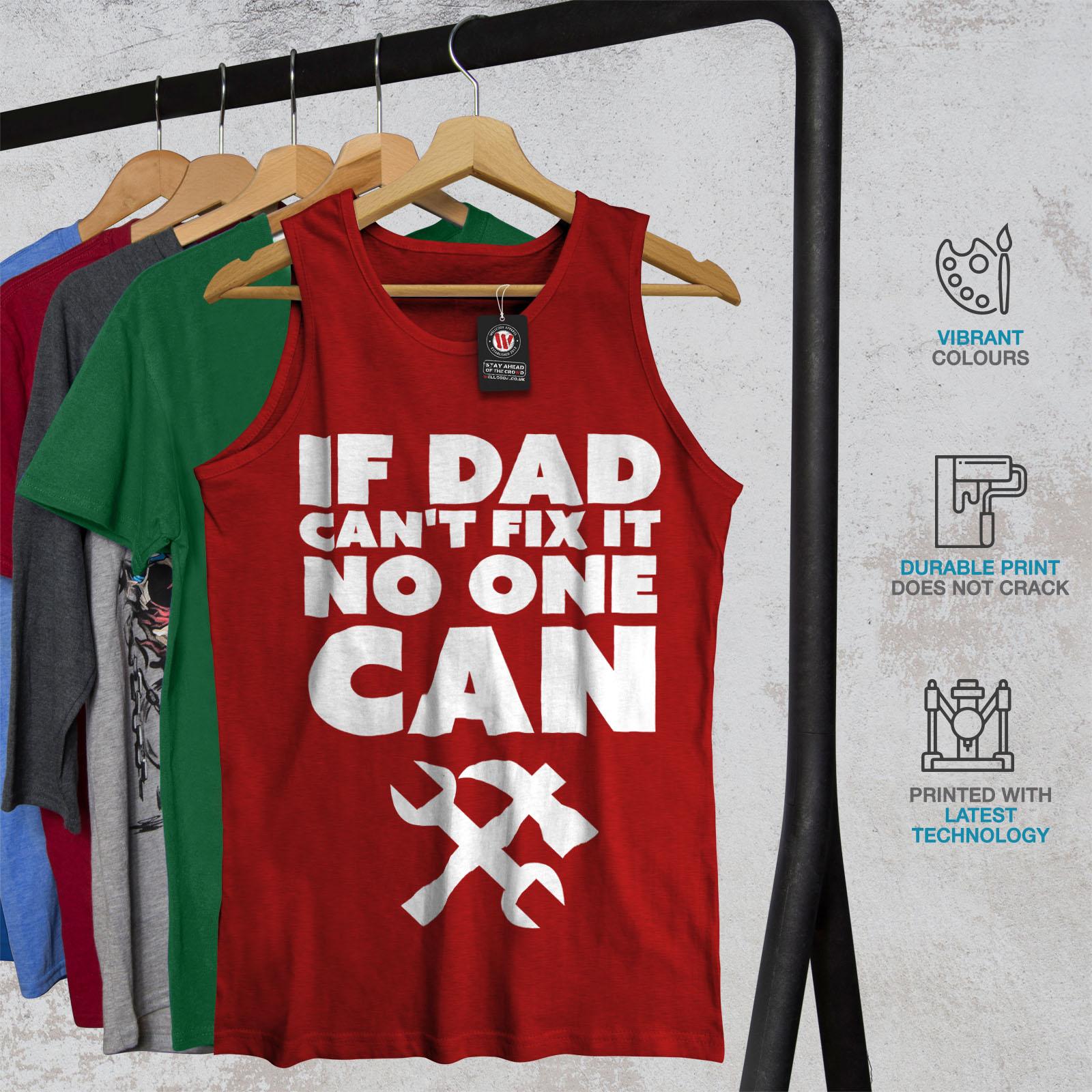 Se PAPA /'wellcoda non può risolvere il problema Da Uomo Canotta nessuno Camicia di Sport Attivo
