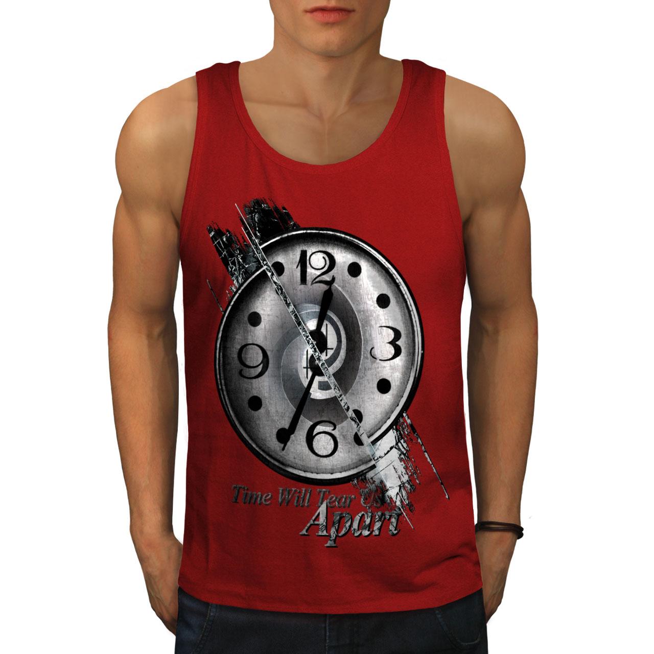 Wellcoda-Clock-Stylish-Art-Mens-Tank-Top-Split-Active-Sports-Shirt thumbnail 7