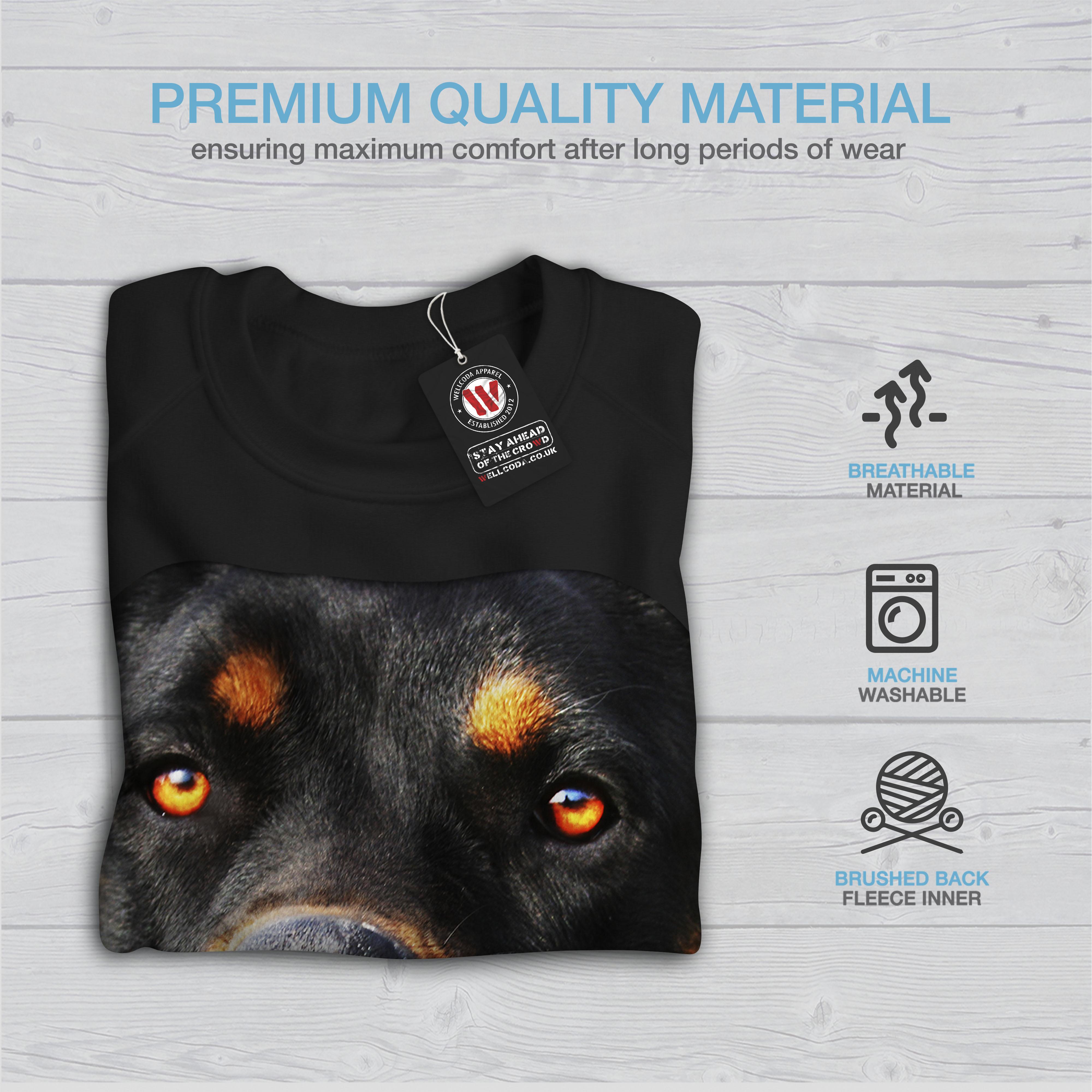 Wellcoda Rottweiler Pup Animal Womens Sweatshirt Lovely Casual Pullover Jumper