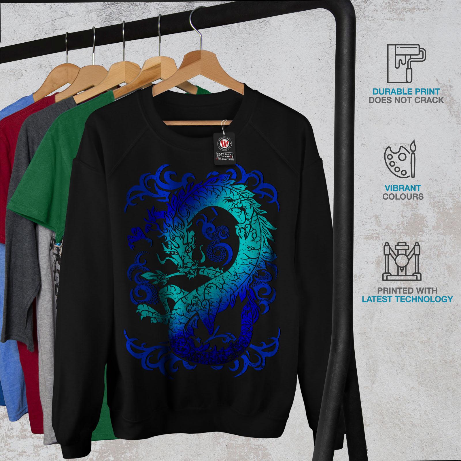 mythe Casual Pullover Pull Wellcoda Fantasy Dragon Mystique Femme Sweat-shirt