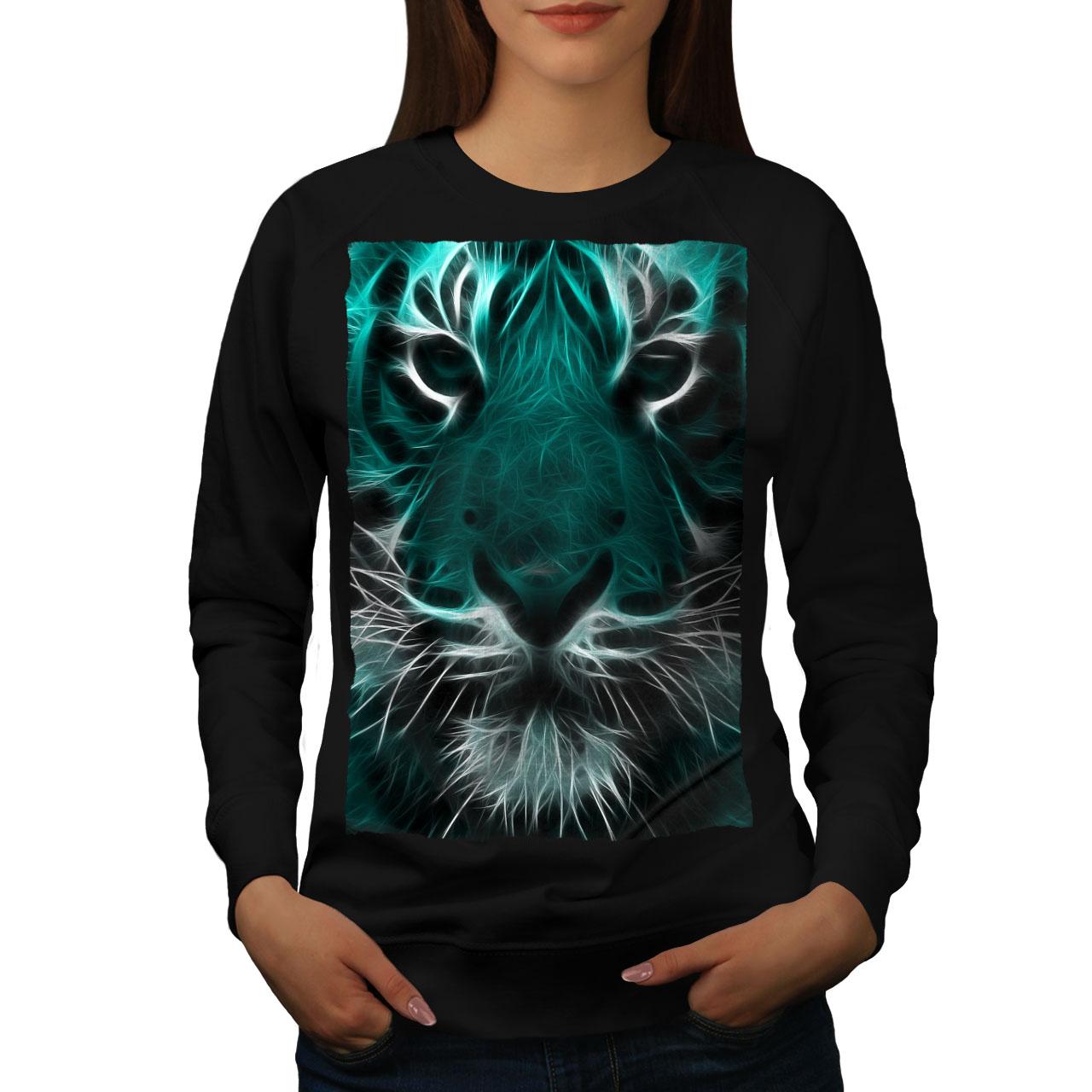 Faccia Tigre Animale Selvatico Nuovo Felpa Uomowellcoda