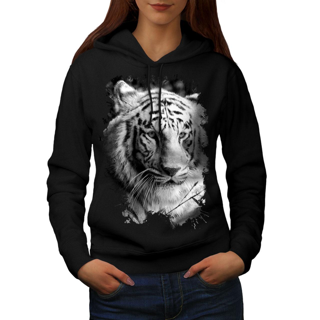Wellcoda Tiger Head Mens Sweatshirt Cartoon Animal Casual Pullover Jumper