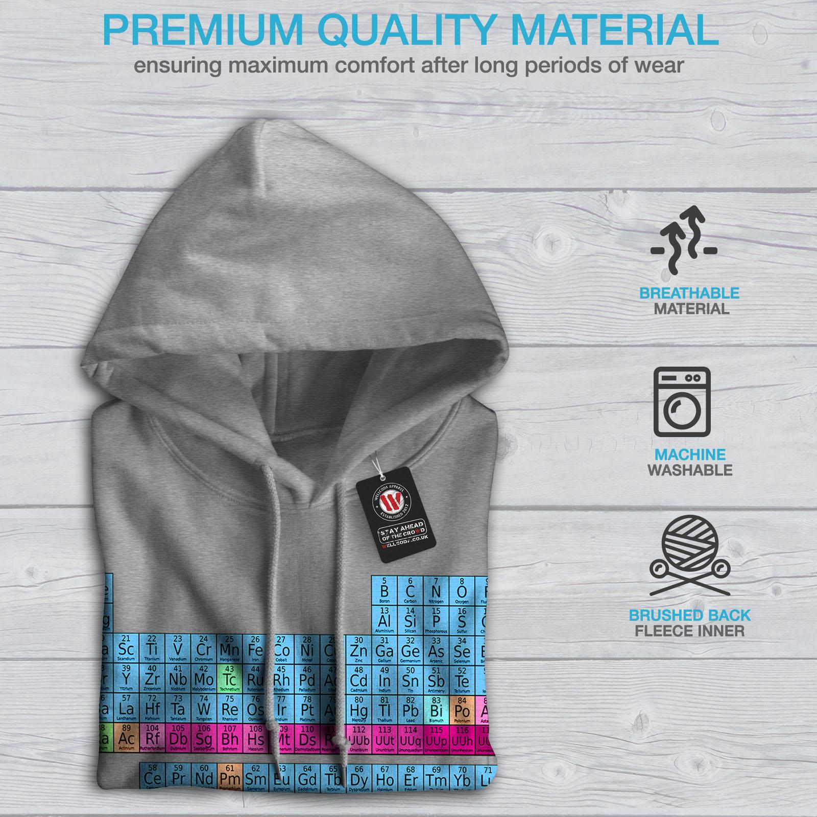 Wellcoda Periodic Table Womens Hoodie Chemistry Casual Hooded Sweatshirt