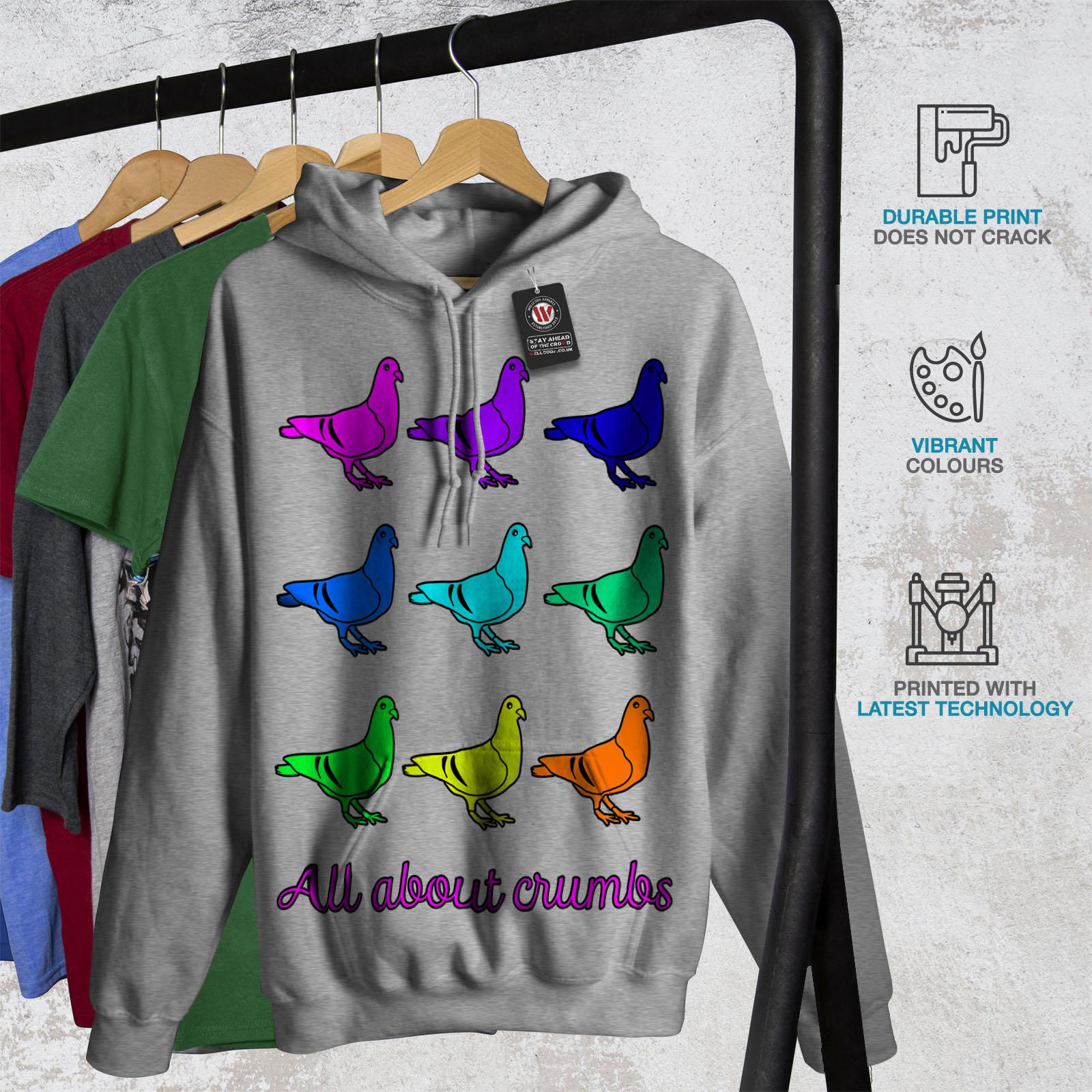 Wellcoda Funny Pun Pigeon Fashion Womens Hoodie Bird Casual Hooded Sweatshirt