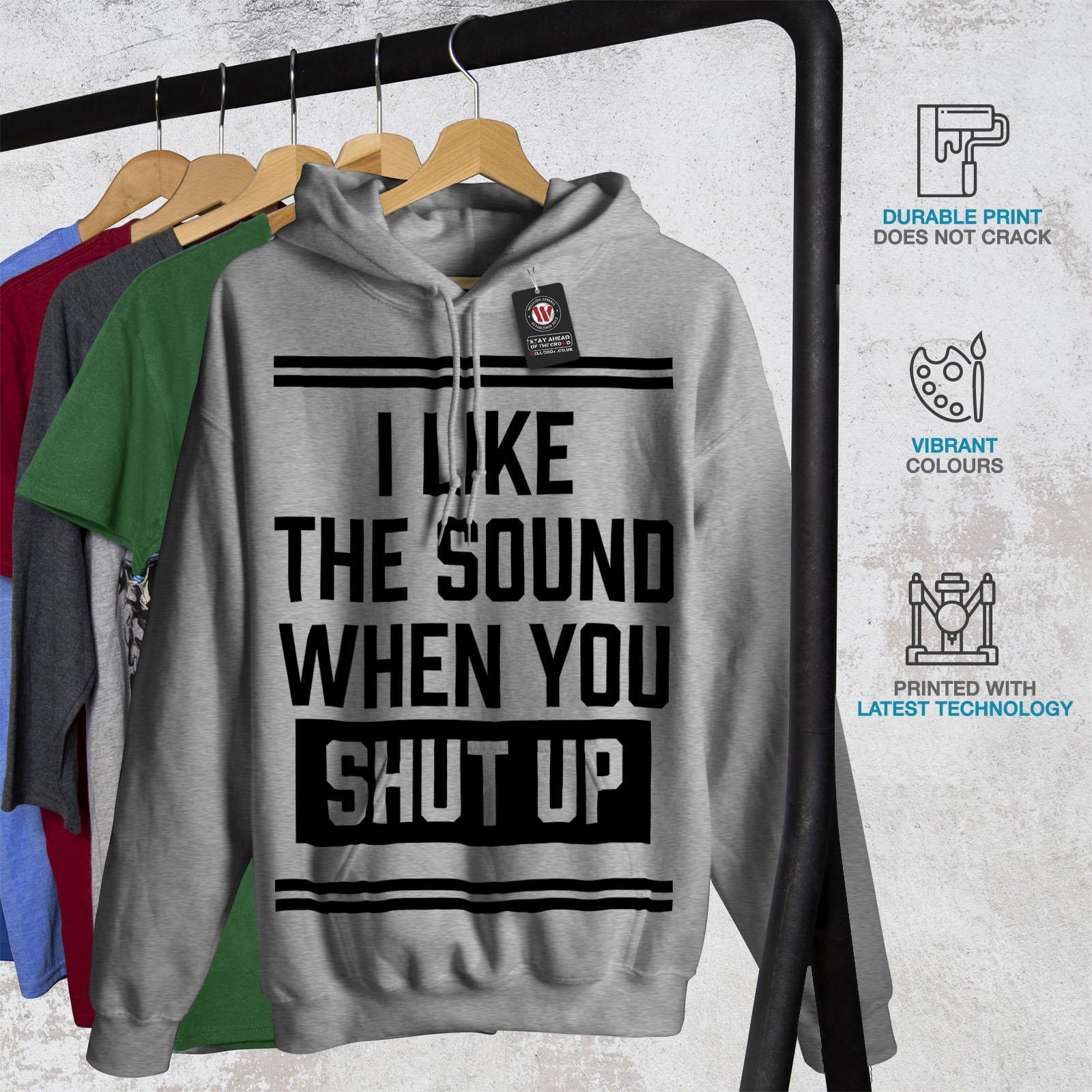 Music Casual Jumper wellcoda Shut Up Pause Mens Sweatshirt