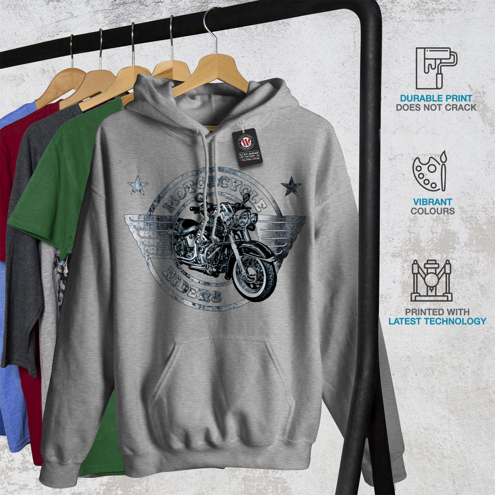 Wellcoda Rider Moto Biker da Donna Felpa con cappuccio BICI Casual Con Cappuccio Felpa